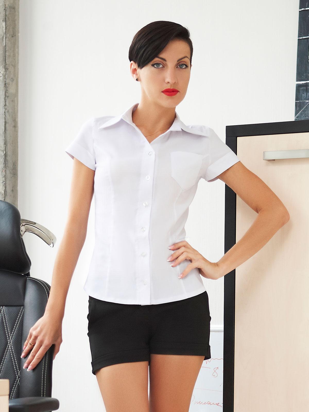 e72940260d6d блуза Марта к/р. Цвет: белый