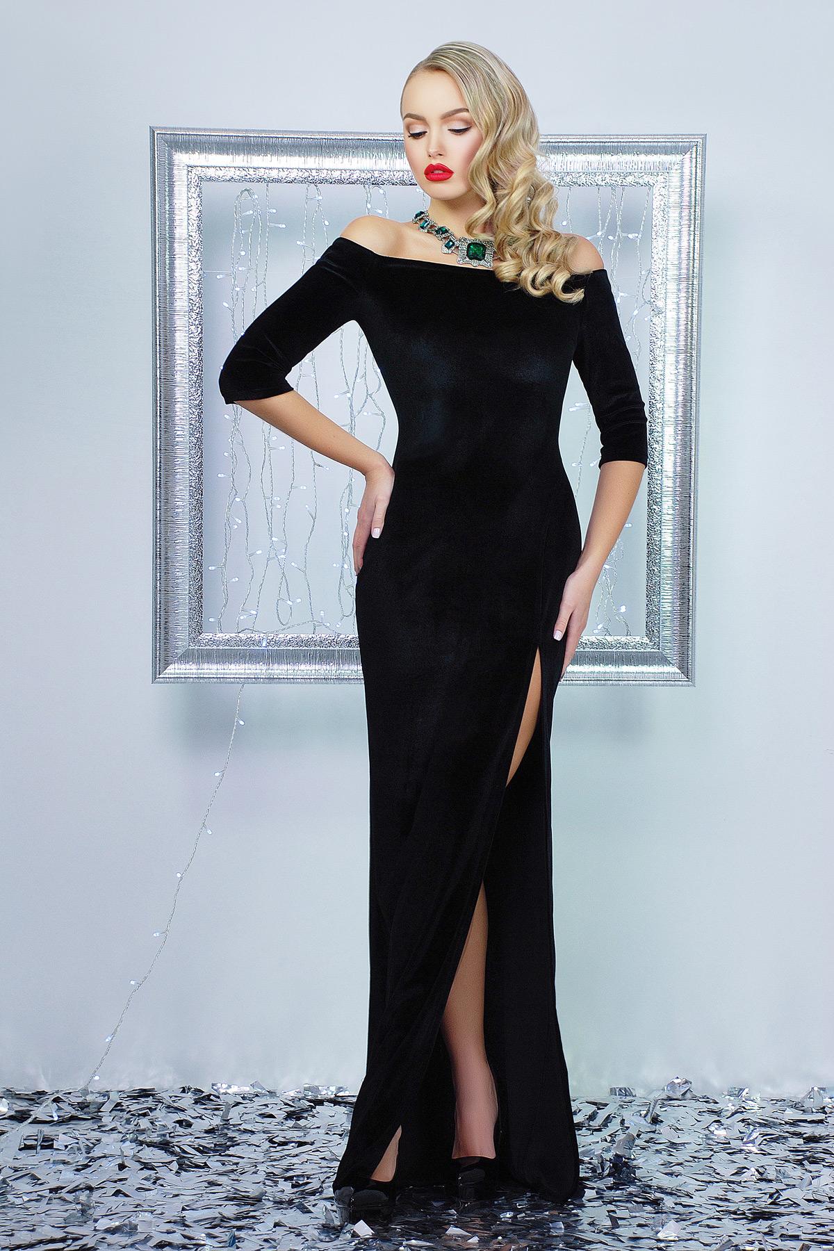 98d951bf4dc черное длинное платье с открытыми плечами. платье Рафаэлла д р. Цвет  черный