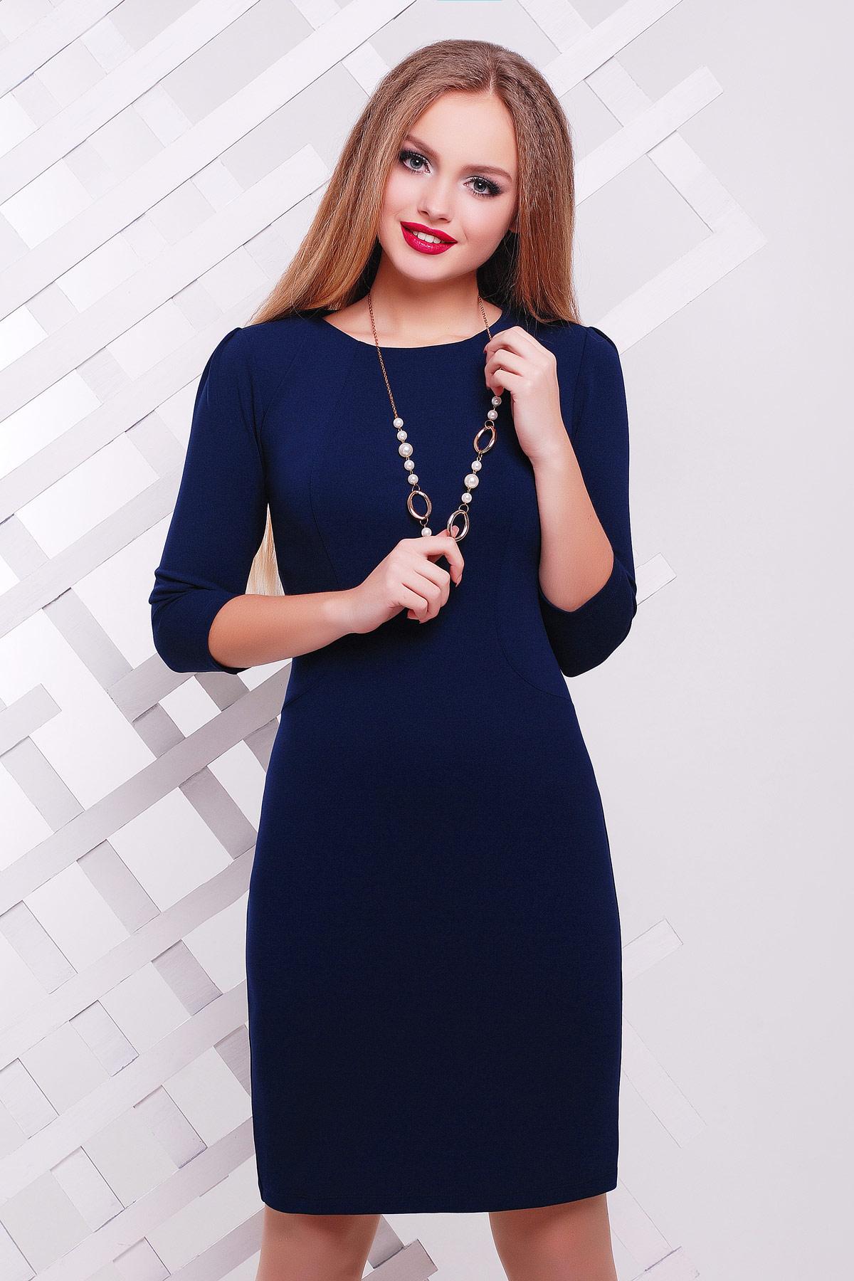 1f31f2d5db9 Платье выше колен темно-синего цвета. платье Модеста д р. Цвет