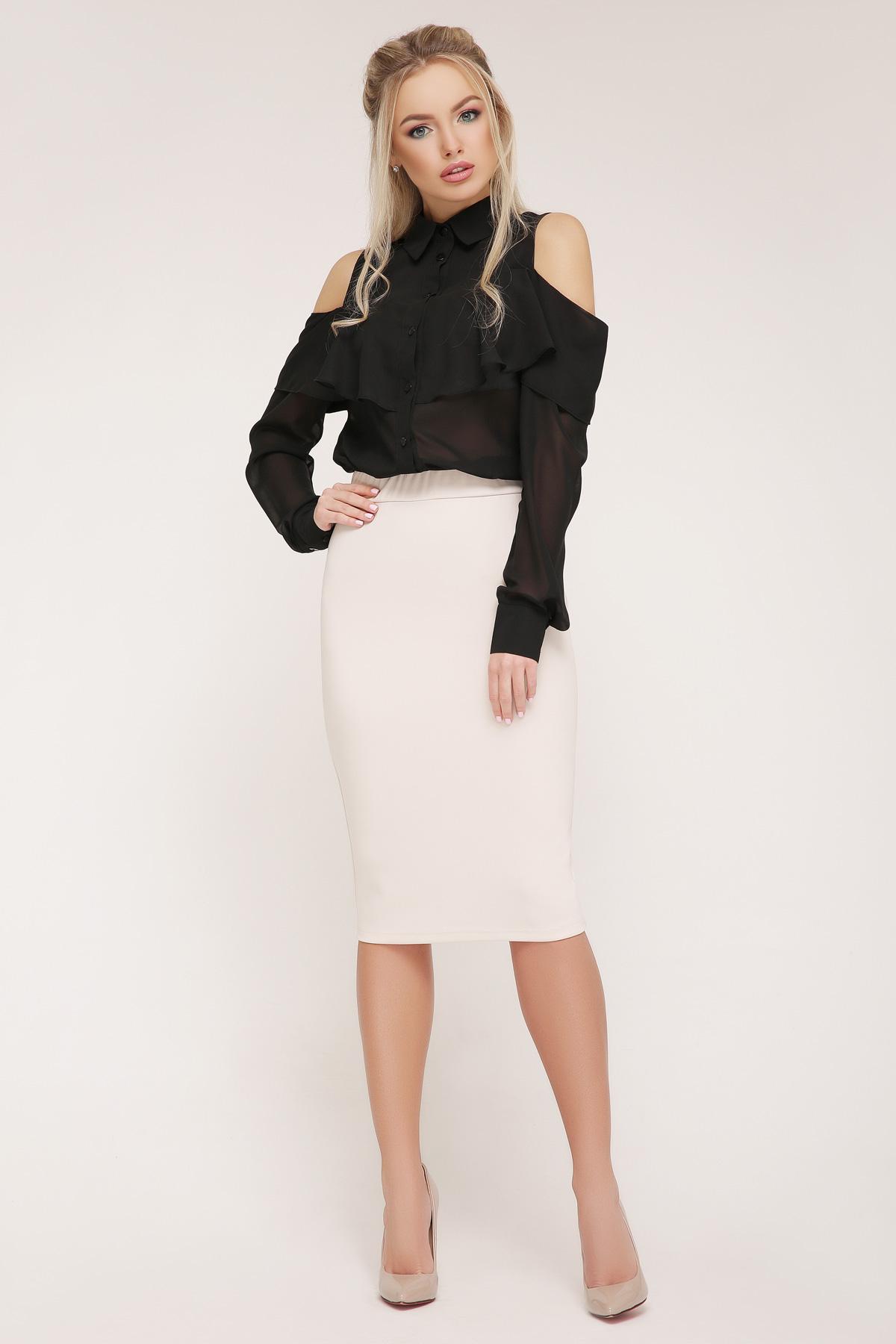 5c77934b7da белая шифоновая блузка. блуза Джанина д р. Цвет  черный