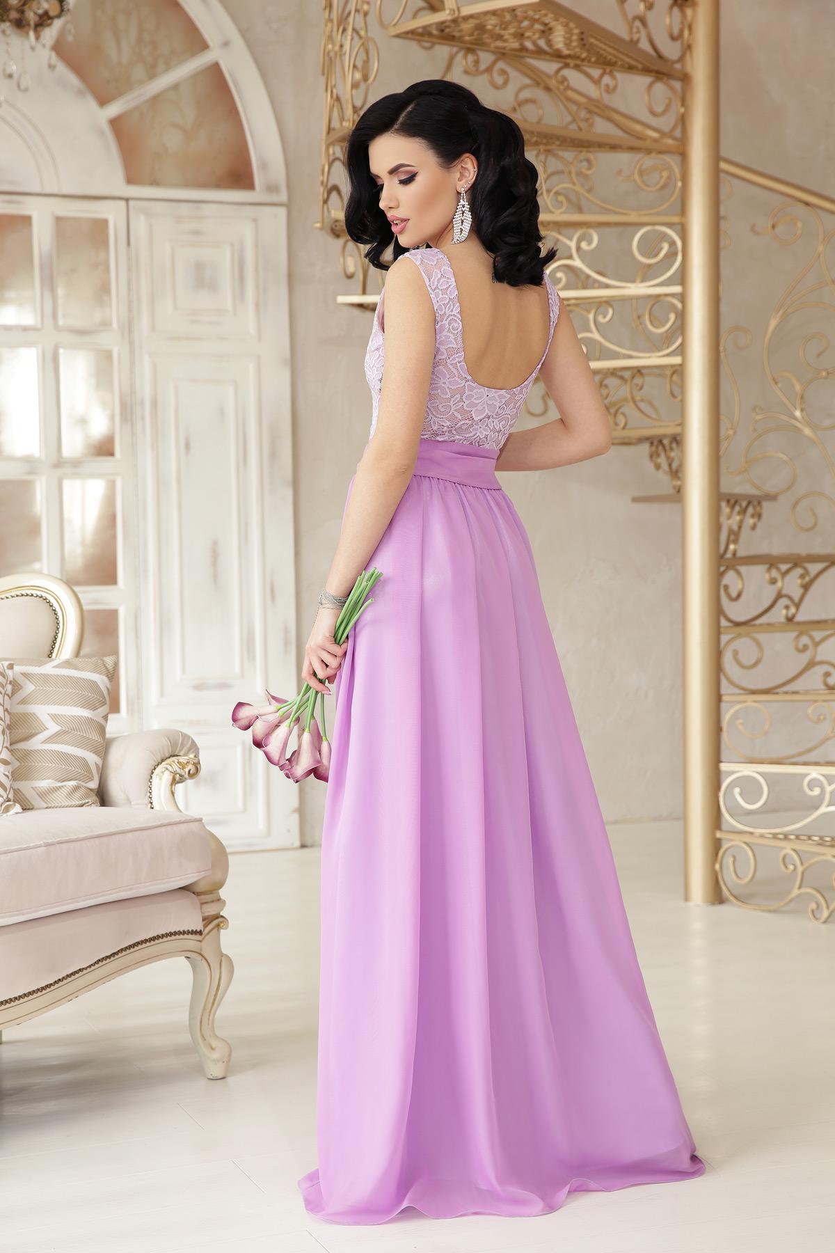 1e0ff321c37 Цвет  лавандовый купить  длинное персиковое платье. платье Анисья б р.  Цвет  лавандовый цена