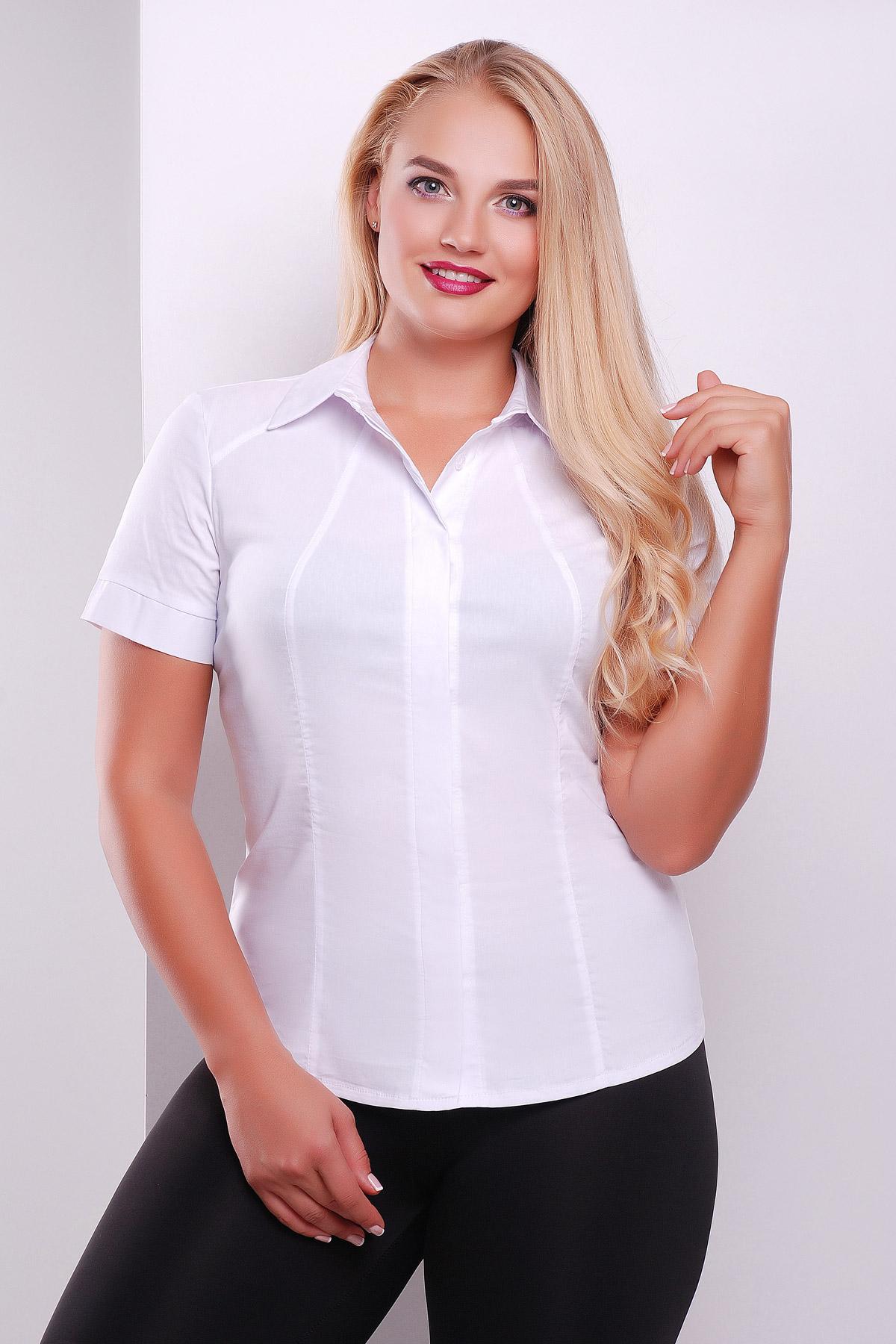 Купить белую гипюровую блузку