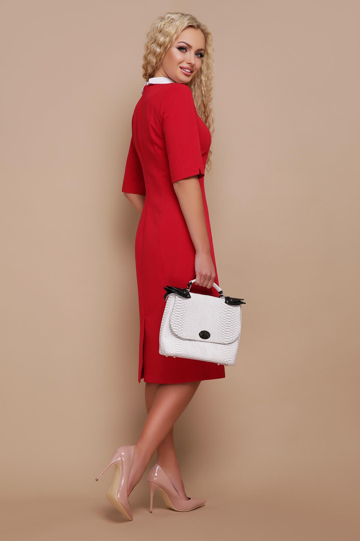 94b7dea6b7a красное платье для работы. платье Ундина 3 4. Цвет  красный купить