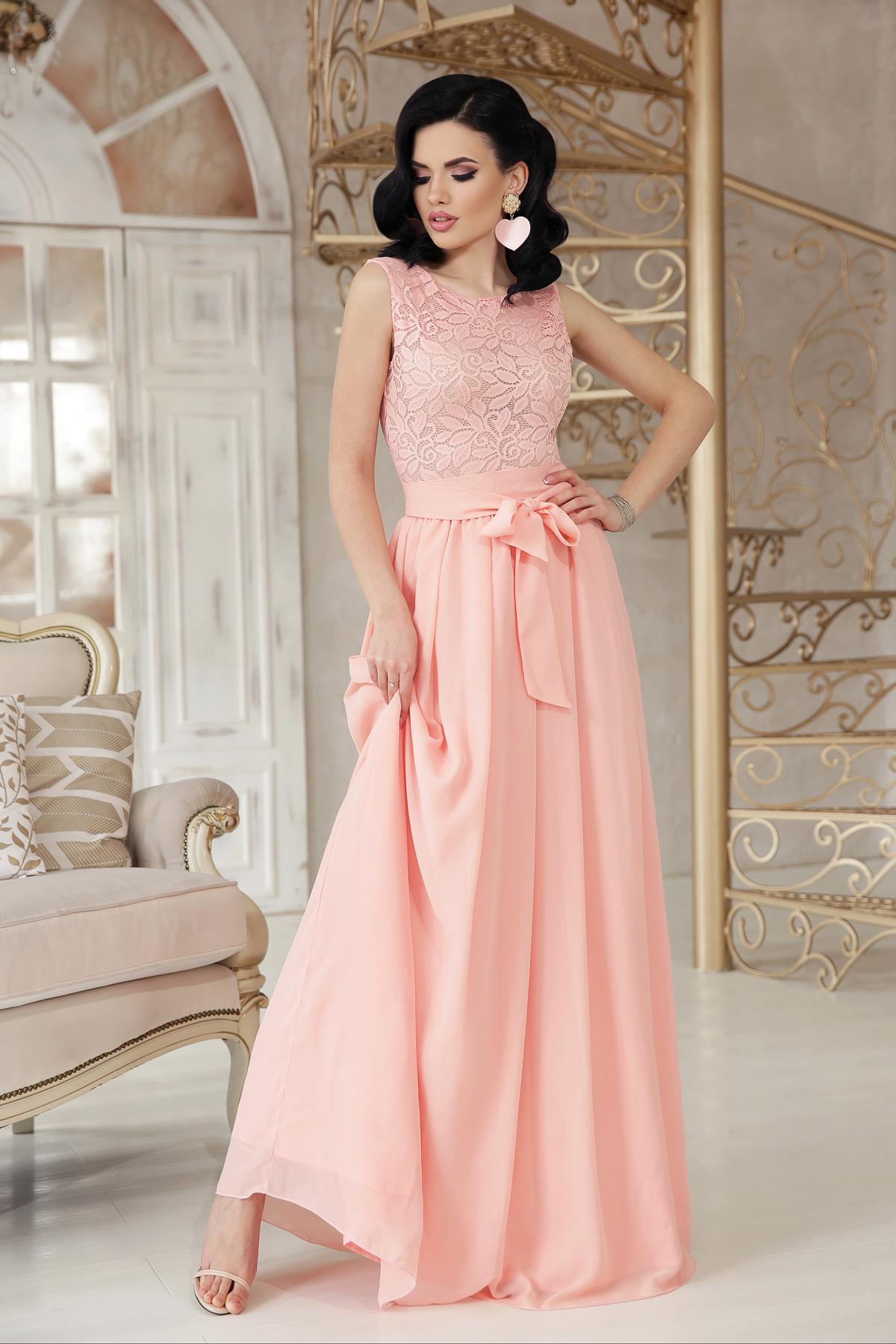 56639da34ae длинное персиковое платье. платье Анисья б р. Цвет  персик