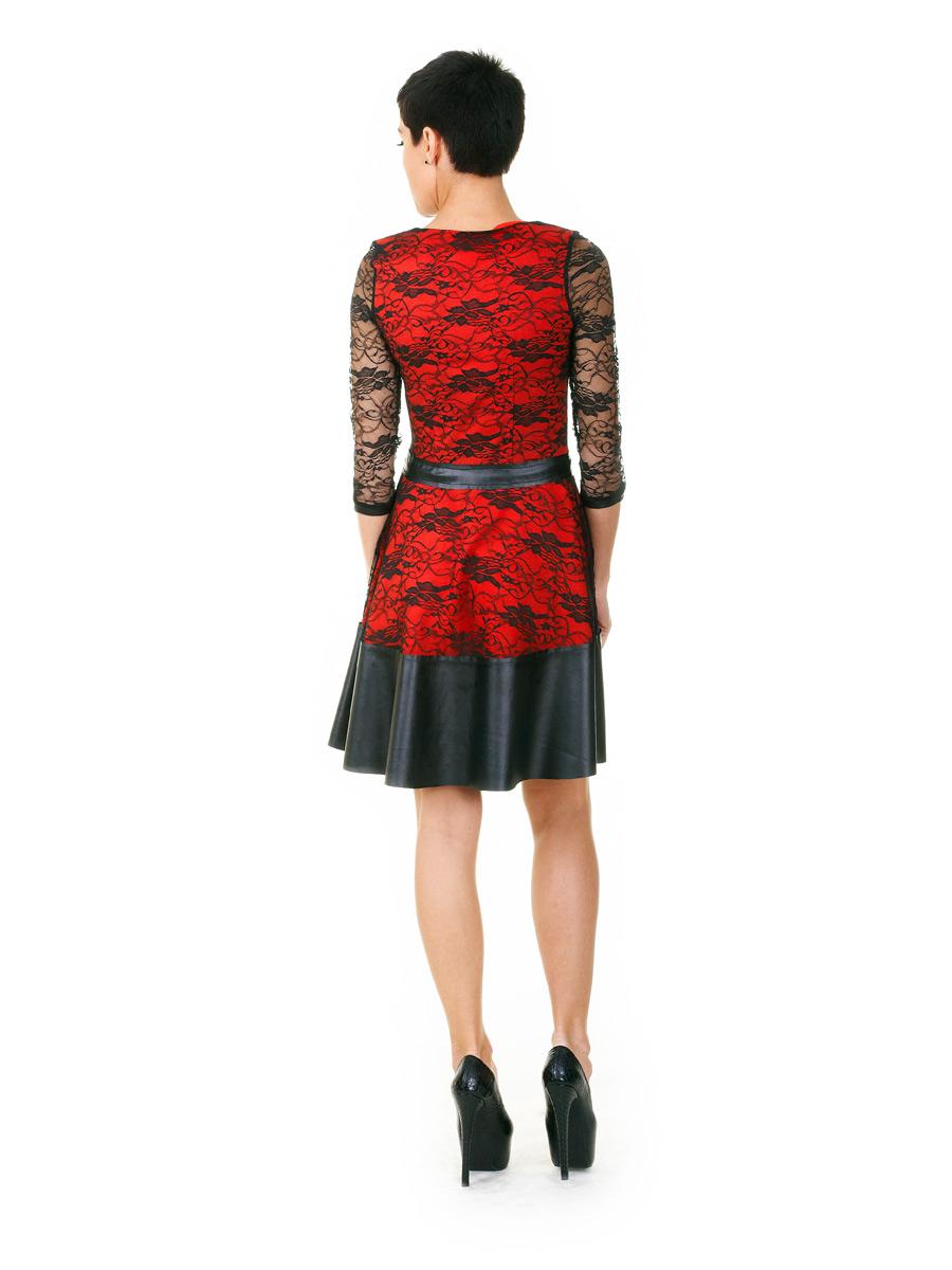 af84b4d990a красное платье с гипюром. платье Лючия д р. Цвет  коралл-черный ...