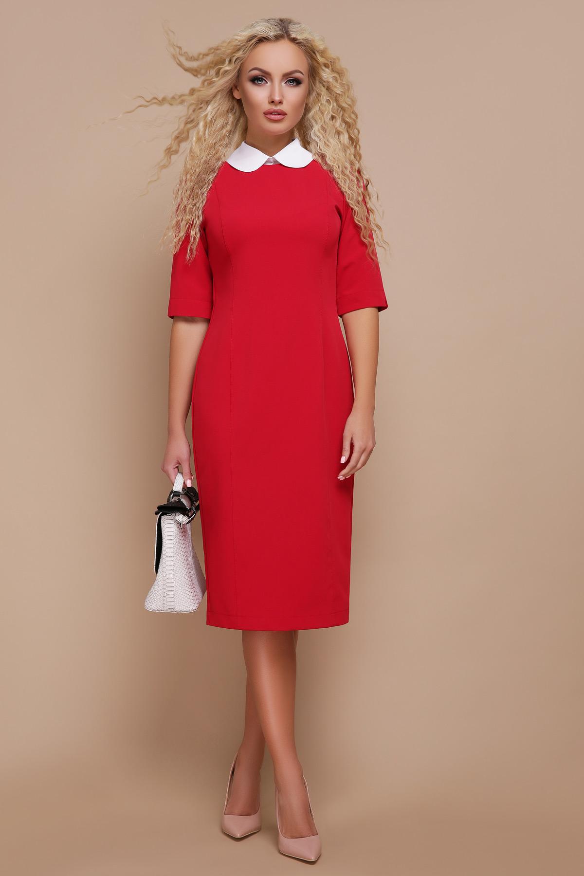 f320351510bcdd1 строгое черное платье. платье Ундина 3/4. Цвет: красный