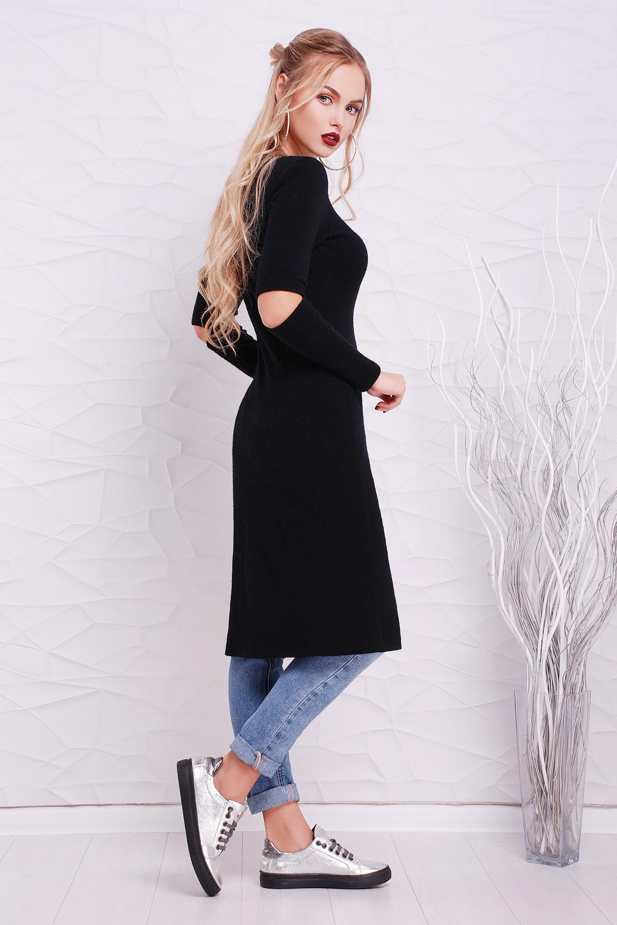 385f195e8229 Цвет  черный купить  теплое платье туника. платье-туника Алекса д р. Цвет   черный цена