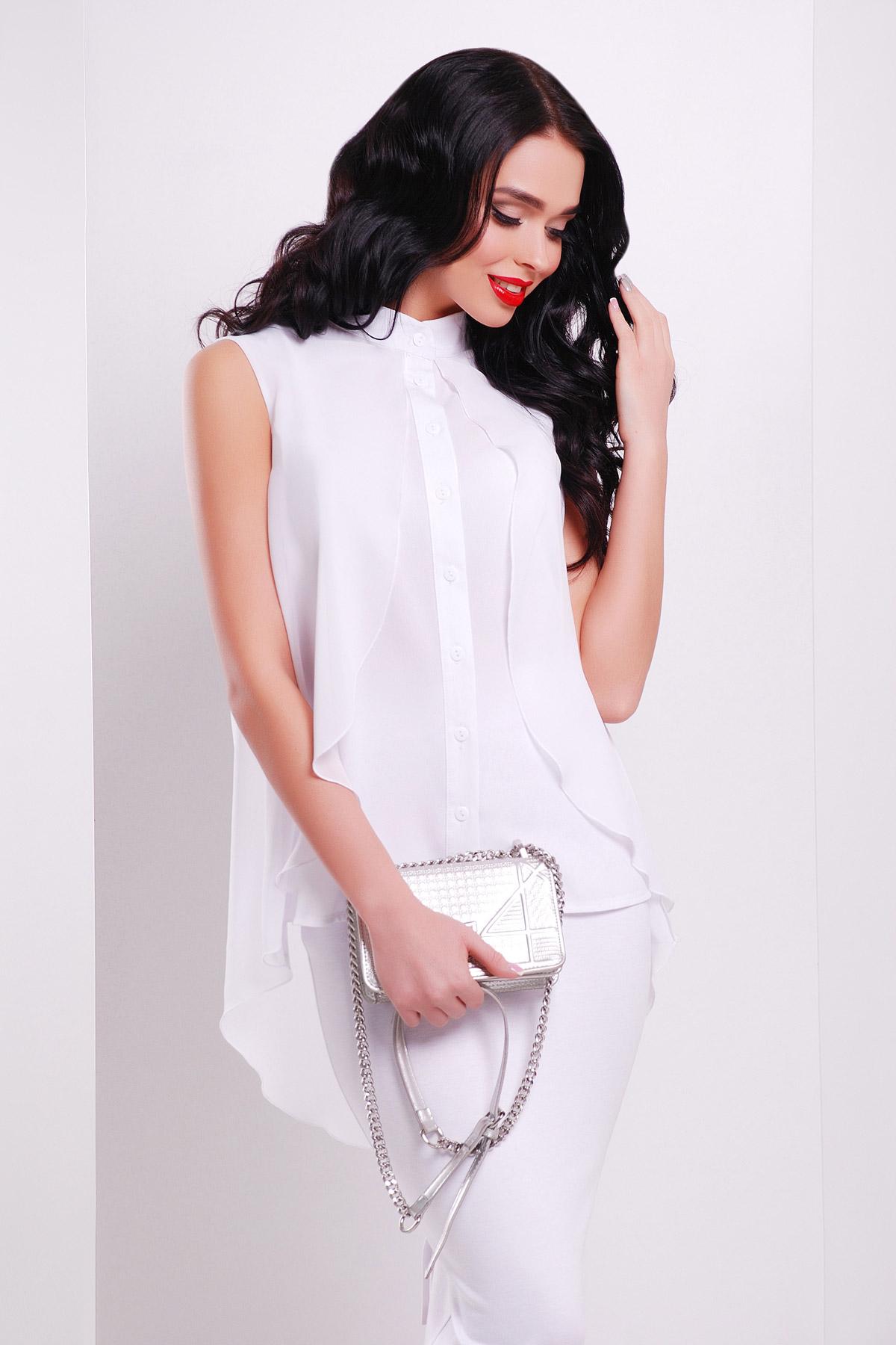 68e293e4943 Белая блузка с пелериной. блуза Санта-Круз б р. Цвет  белый