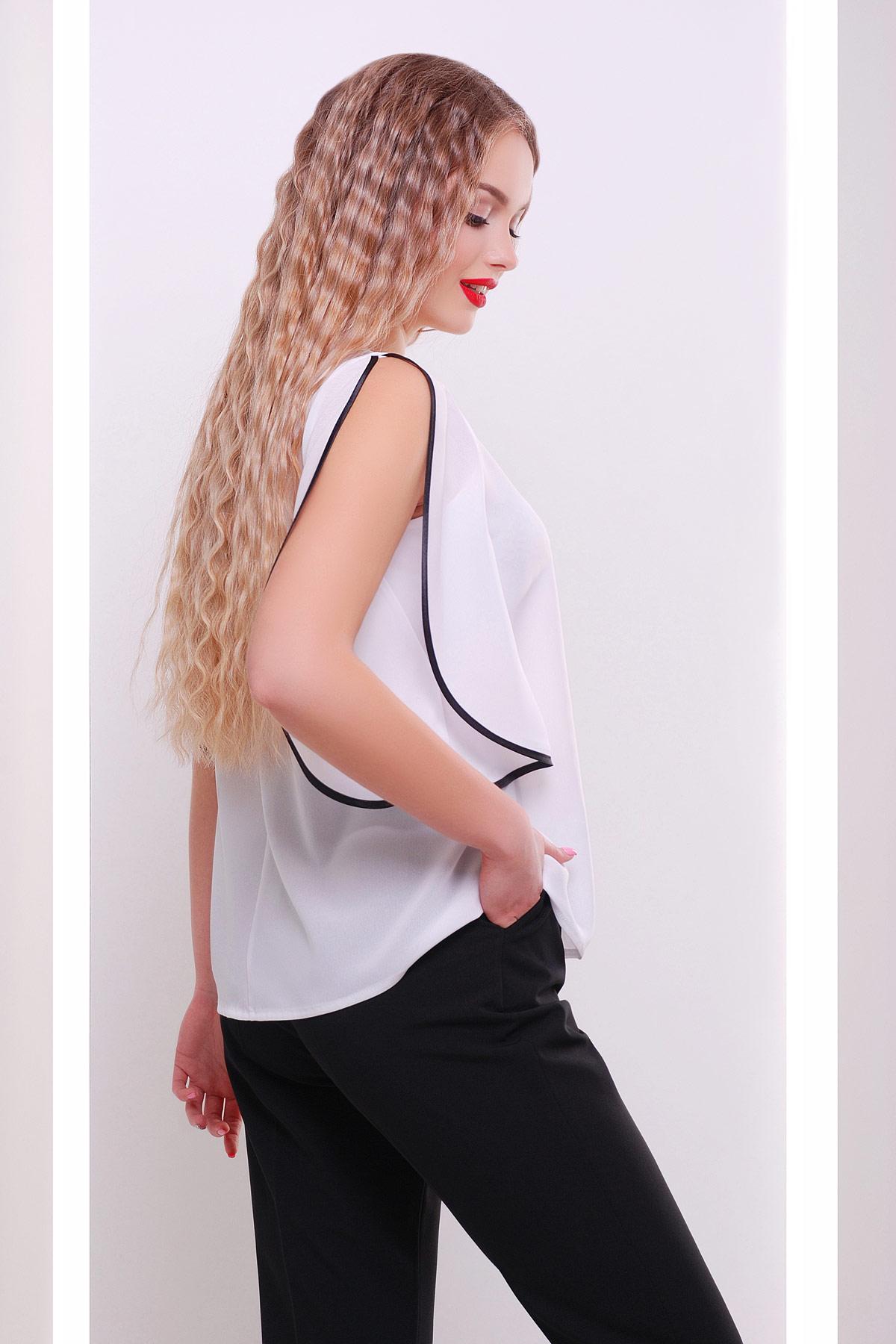 Блузка белая полупрозрачная купить
