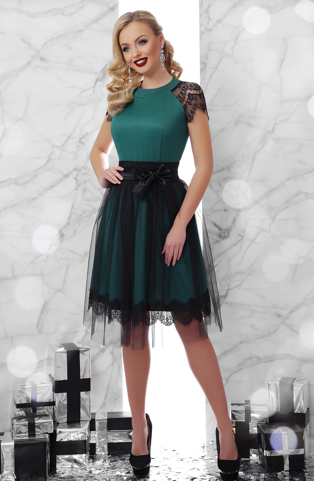 952cc28f85c зеленое платье с юбкой из фатина. платье Тиана к р. Цвет  изумруд ...