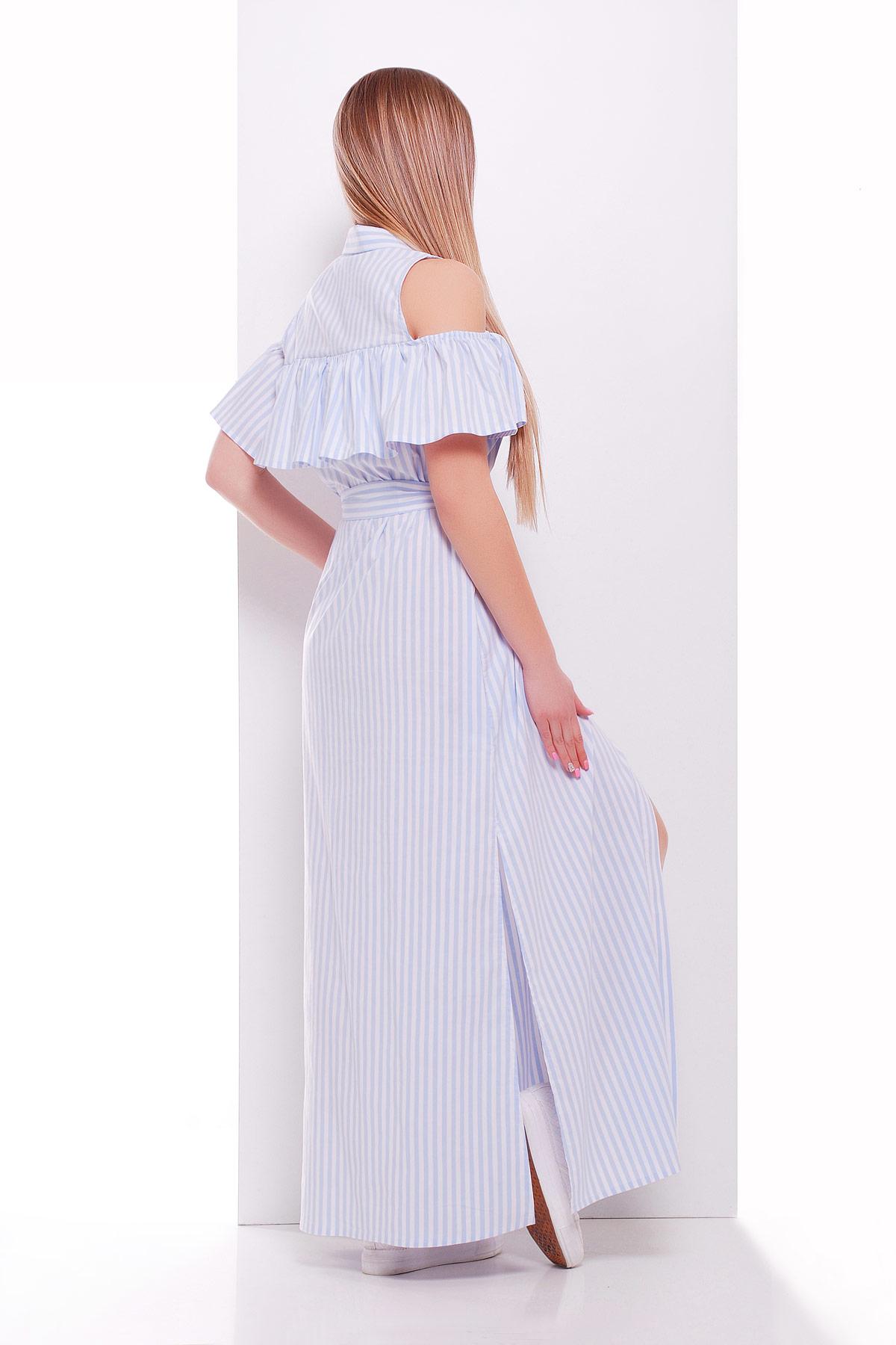 a96cb970fd2 летнее платье в полоску. платье Лаванья б р. Цвет  голубая полоска купить  ...