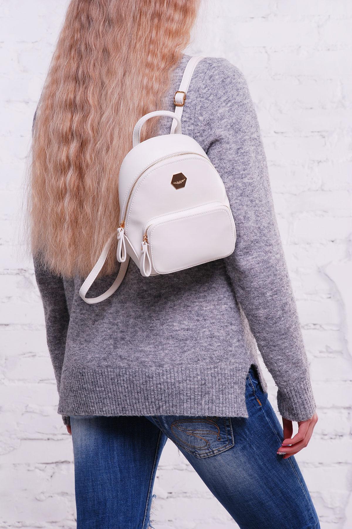 38a04a8508c4 Цвет  белый купить · женский мини рюкзак белого цвета. Рюкзак 5526-2. Цвет   белый цена