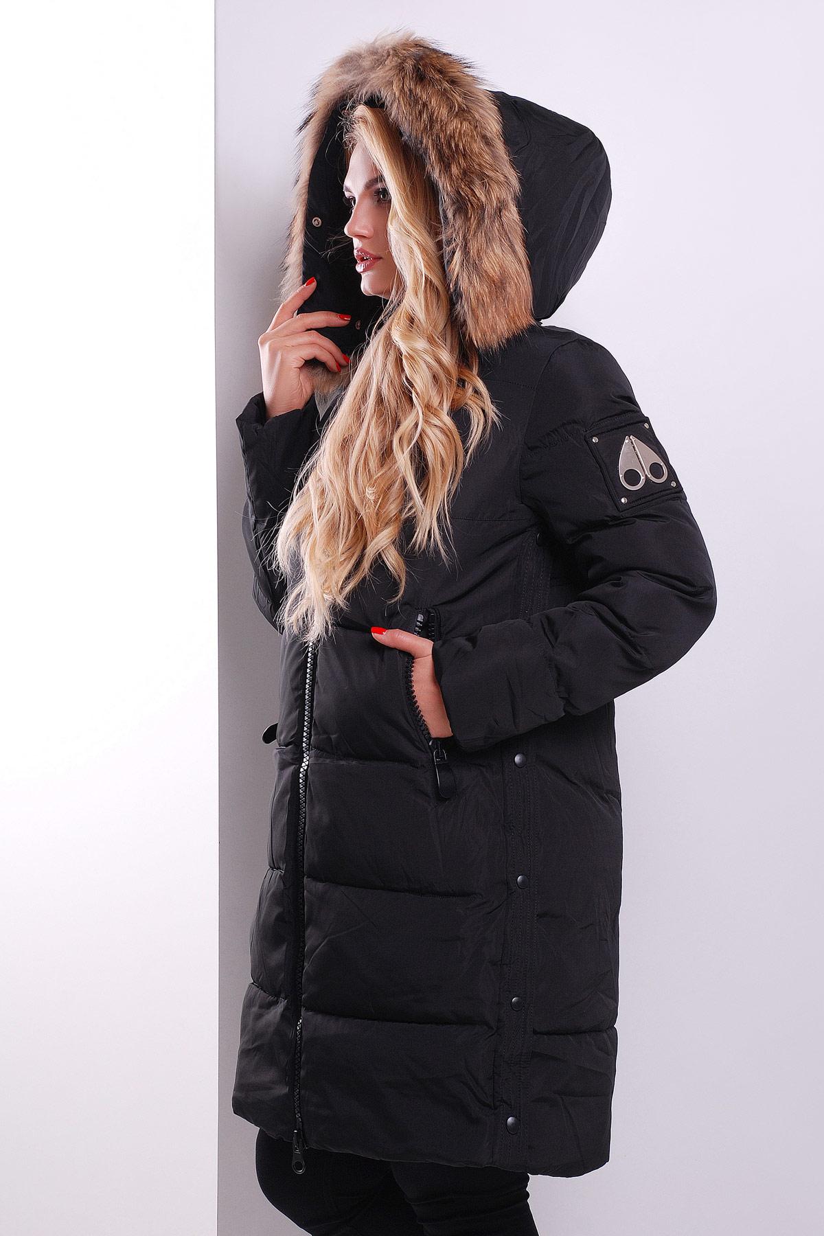 394f6a02fb9 Зимняя женская куртка черного цвета. Куртка 511. Цвет  черный