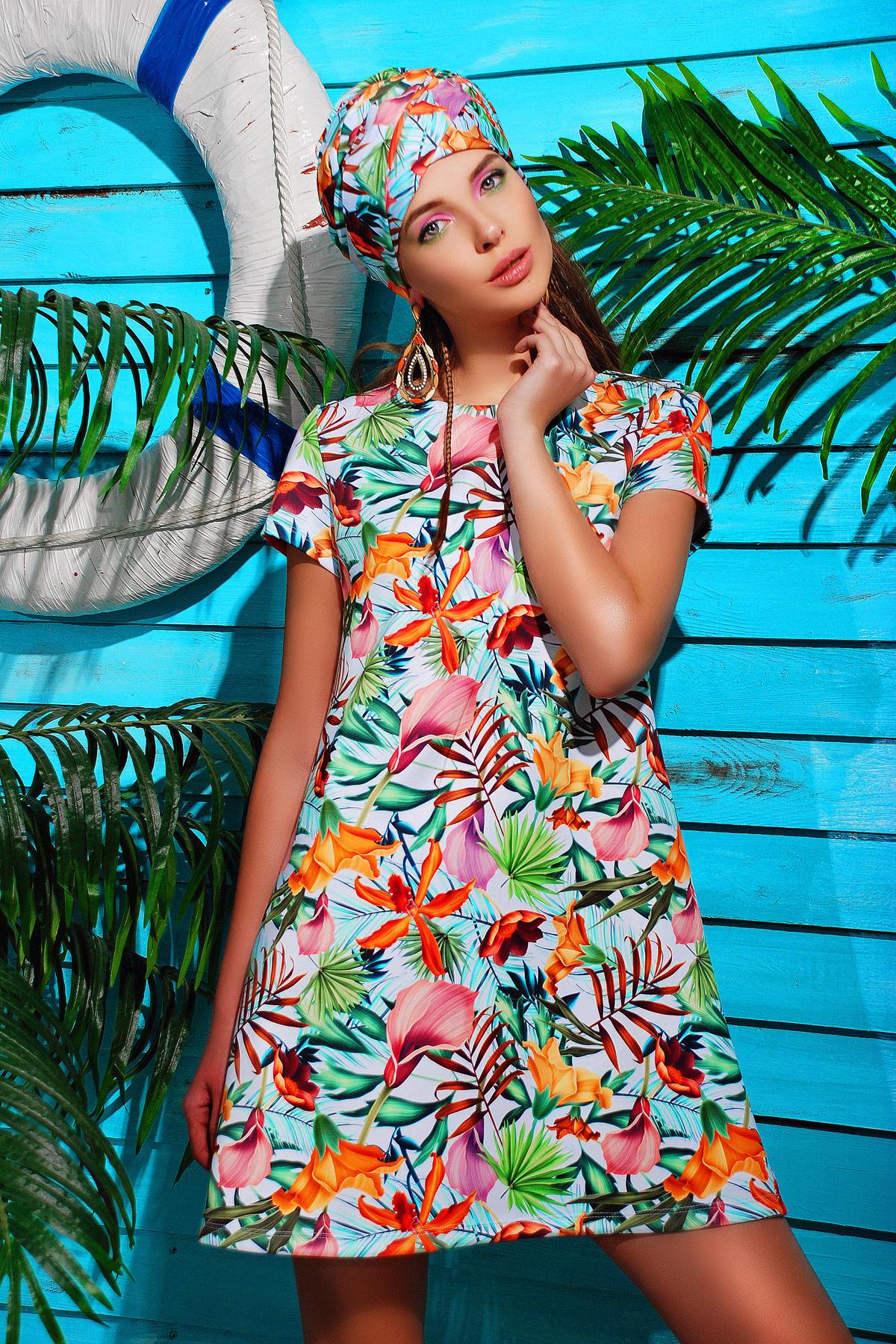Каллы платье Тая-1 к/р. Цвет: принт