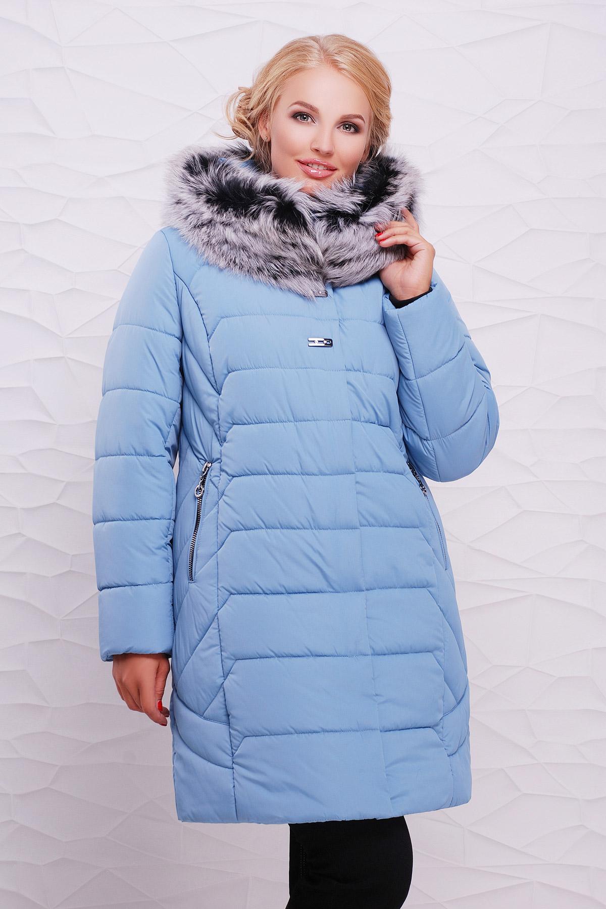 Куртка Вероника. Цвет: голубой 2