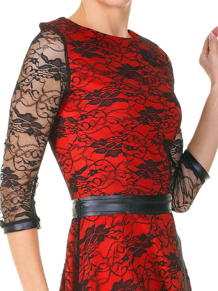 538382ace3e ... красное платье с гипюром. платье Лючия д р. Цвет  коралл-черный