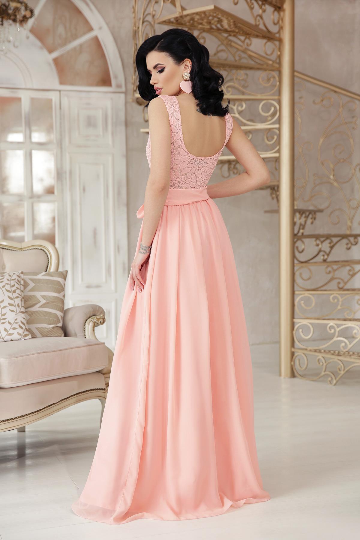 11fa12f6a2f Цвет  персик купить  длинное персиковое платье. платье Анисья б р. Цвет   персик цена