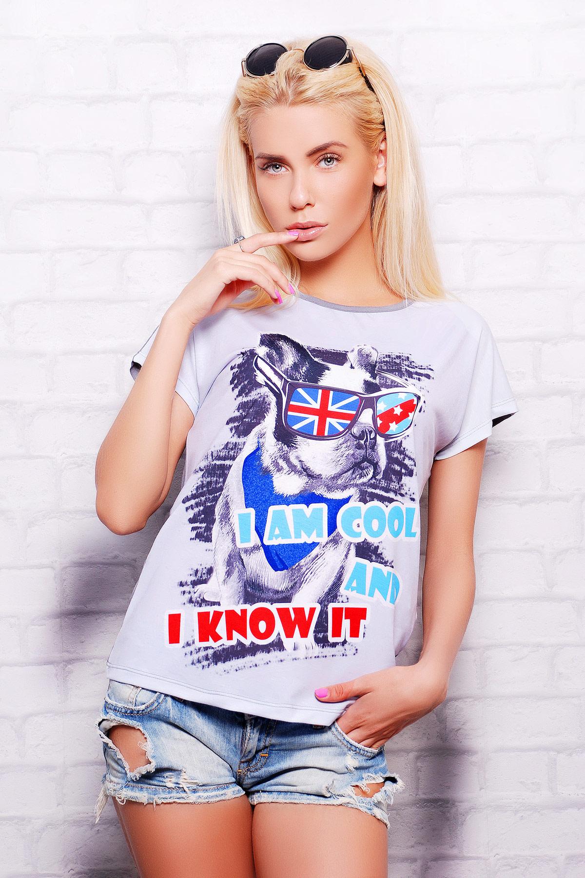 Бульдог футболка Кимоно-Б. Цвет: принт