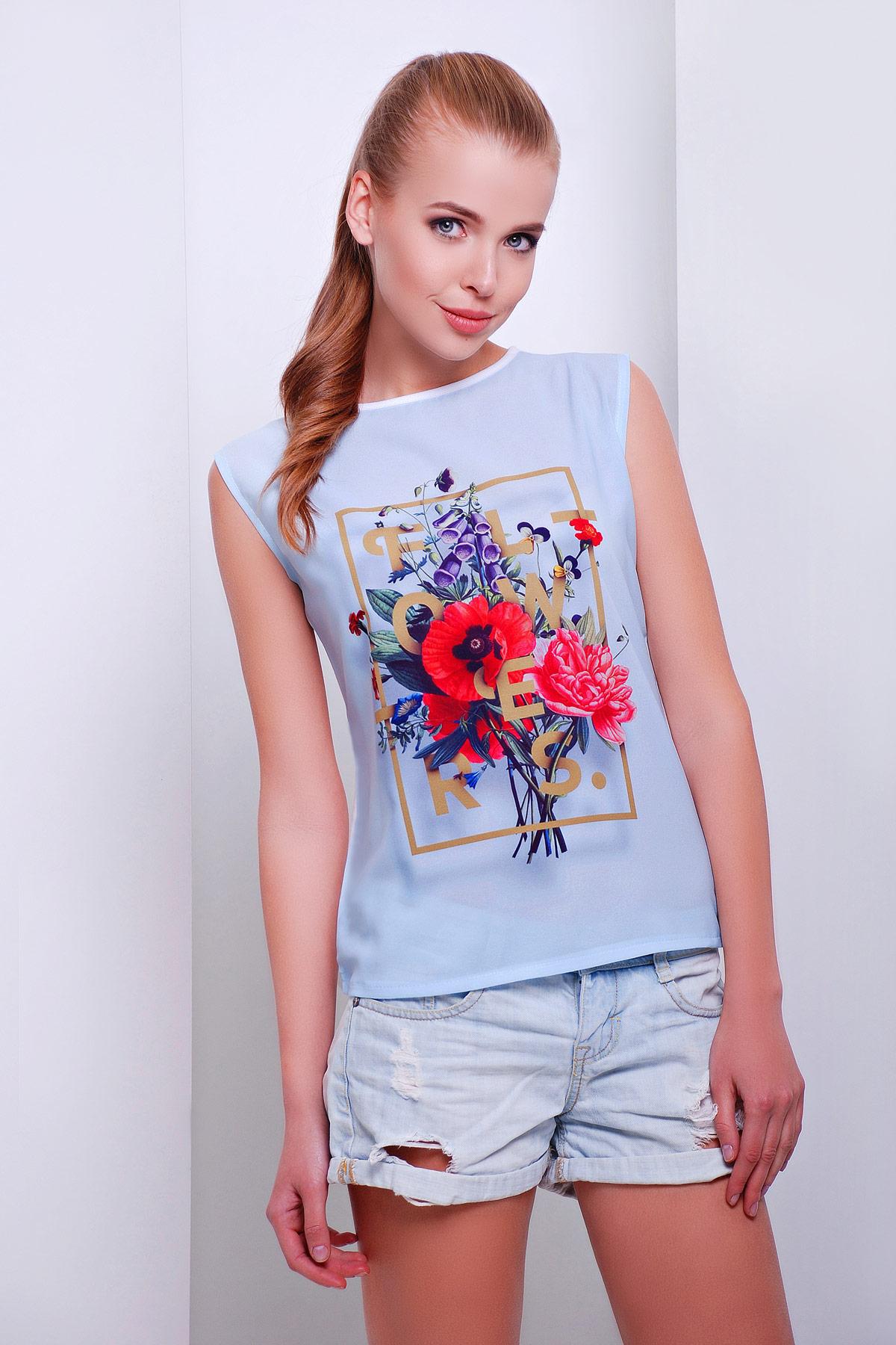 Flowers футболка Киви-Б. Цвет: принт