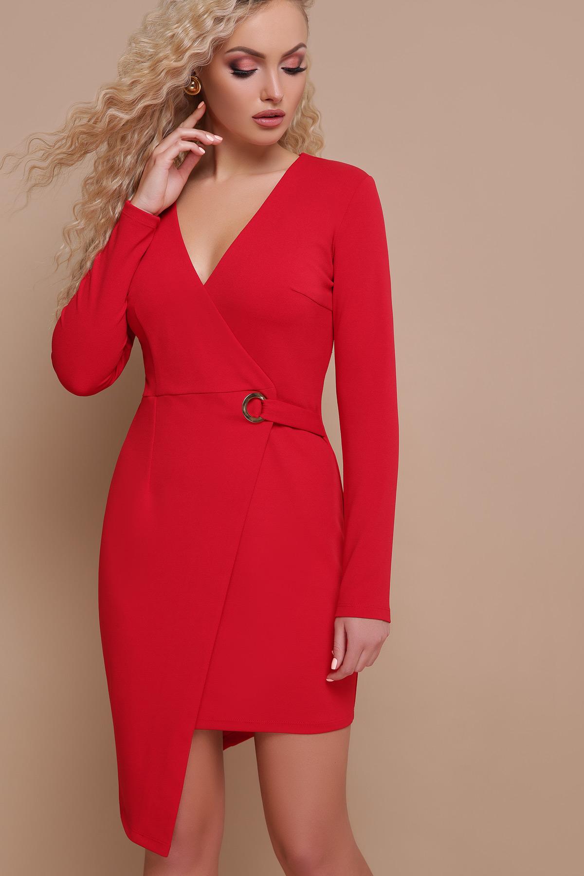 f03ea3a2648 красное платье с запахом. платье Виолетта д р. Цвет  красный