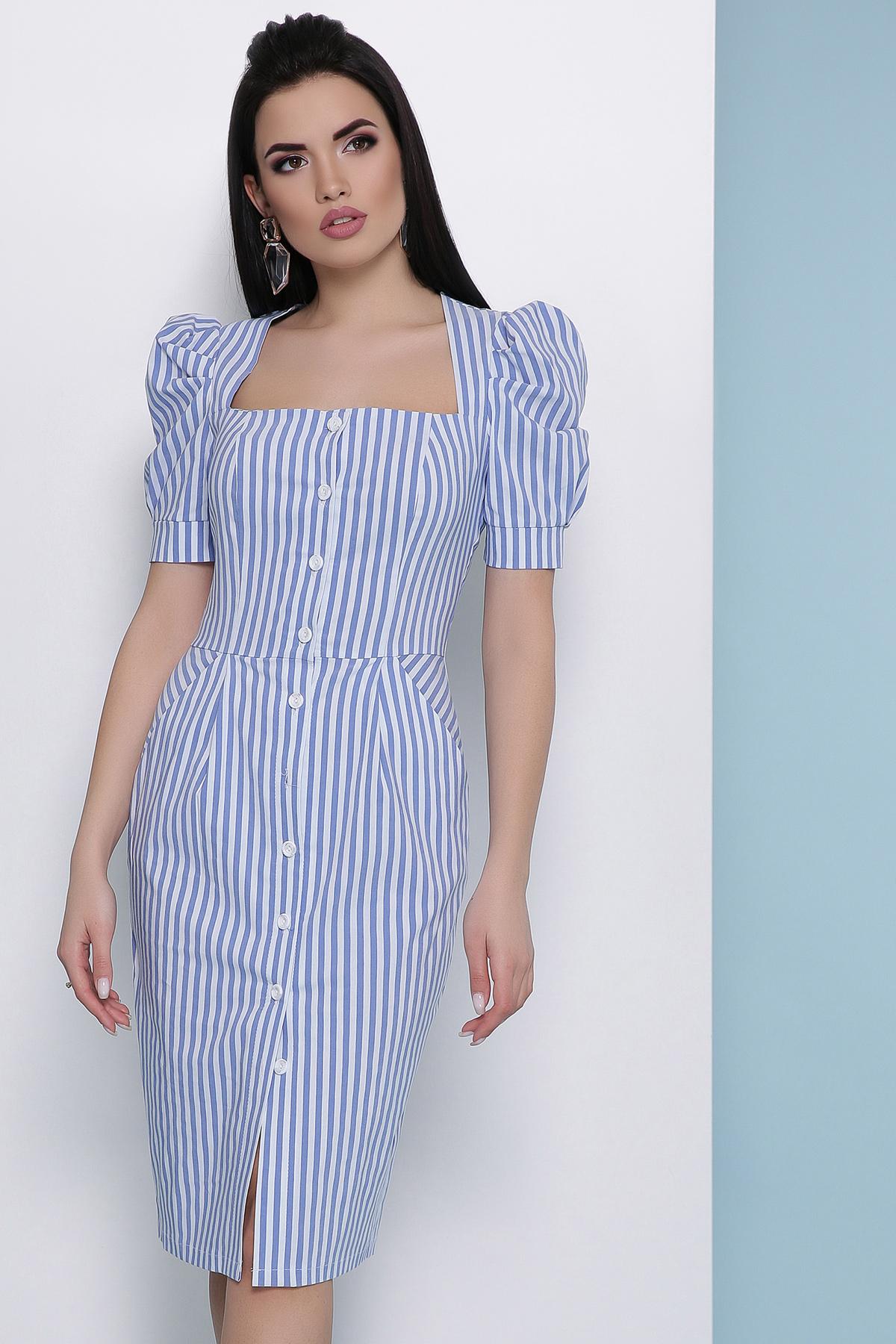 ce745df8770 летнее платье в полоску. платье Риана к р. Цвет  синяя полоска