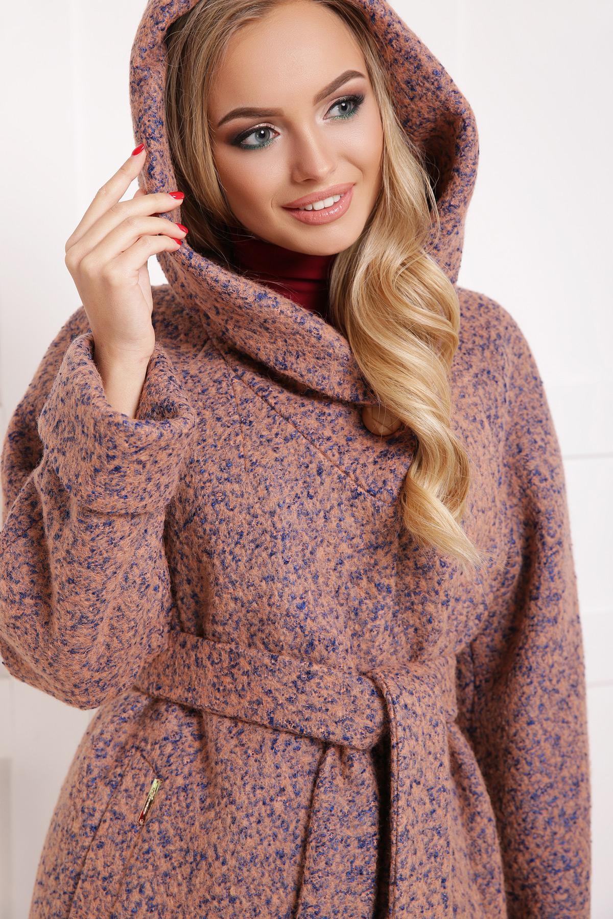 женское пальто с капюшоном. пальто П-304-100б. Цвет  1208 0b07f1abd2877