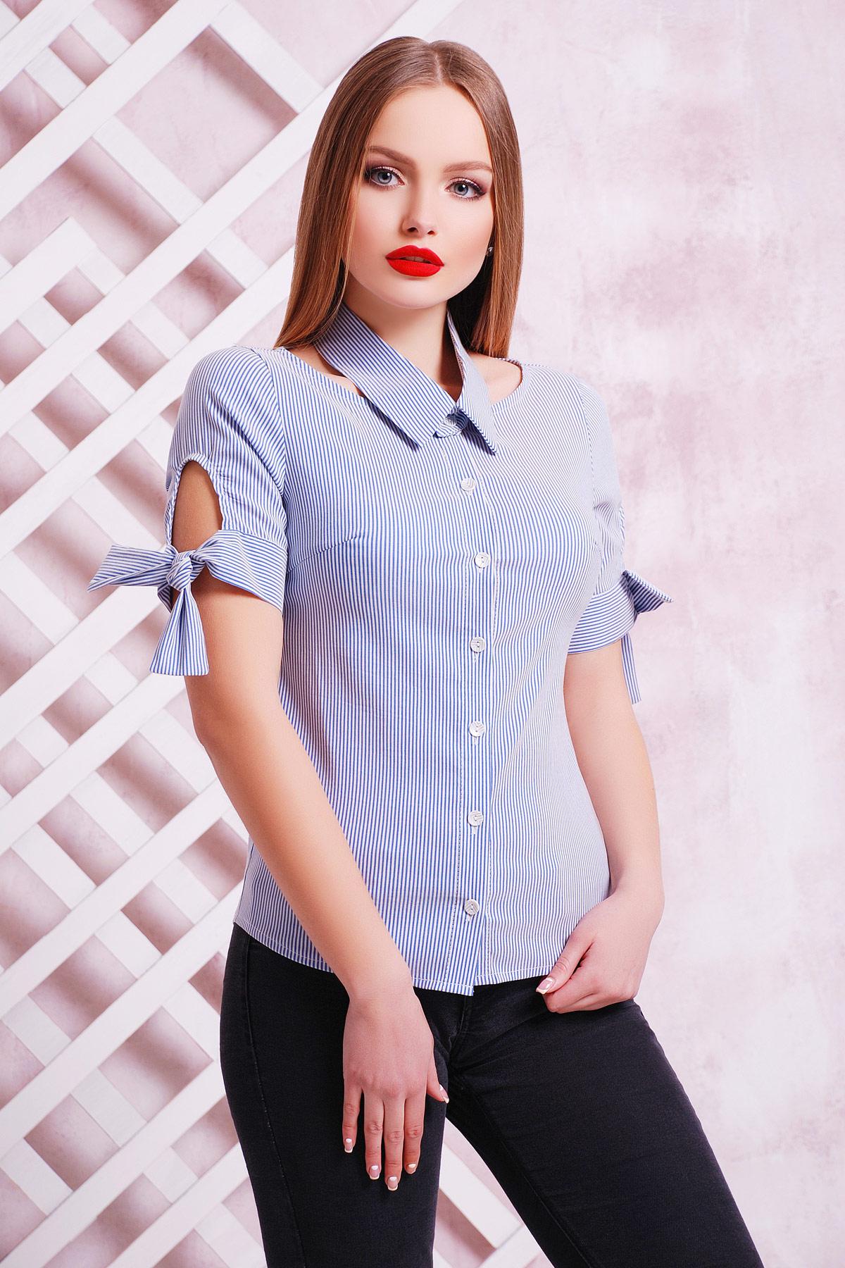 Блузки с коротким рукавом