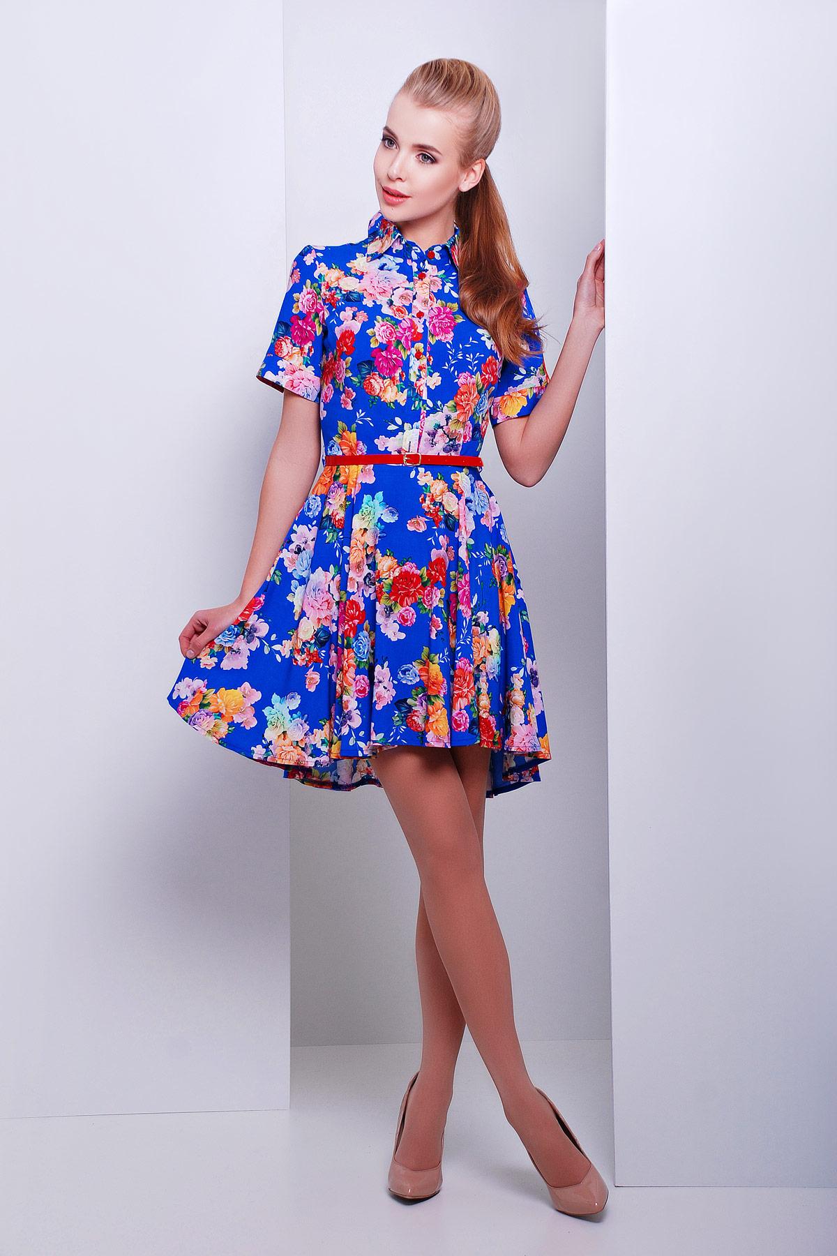 Платье летнее купить цвет электрик