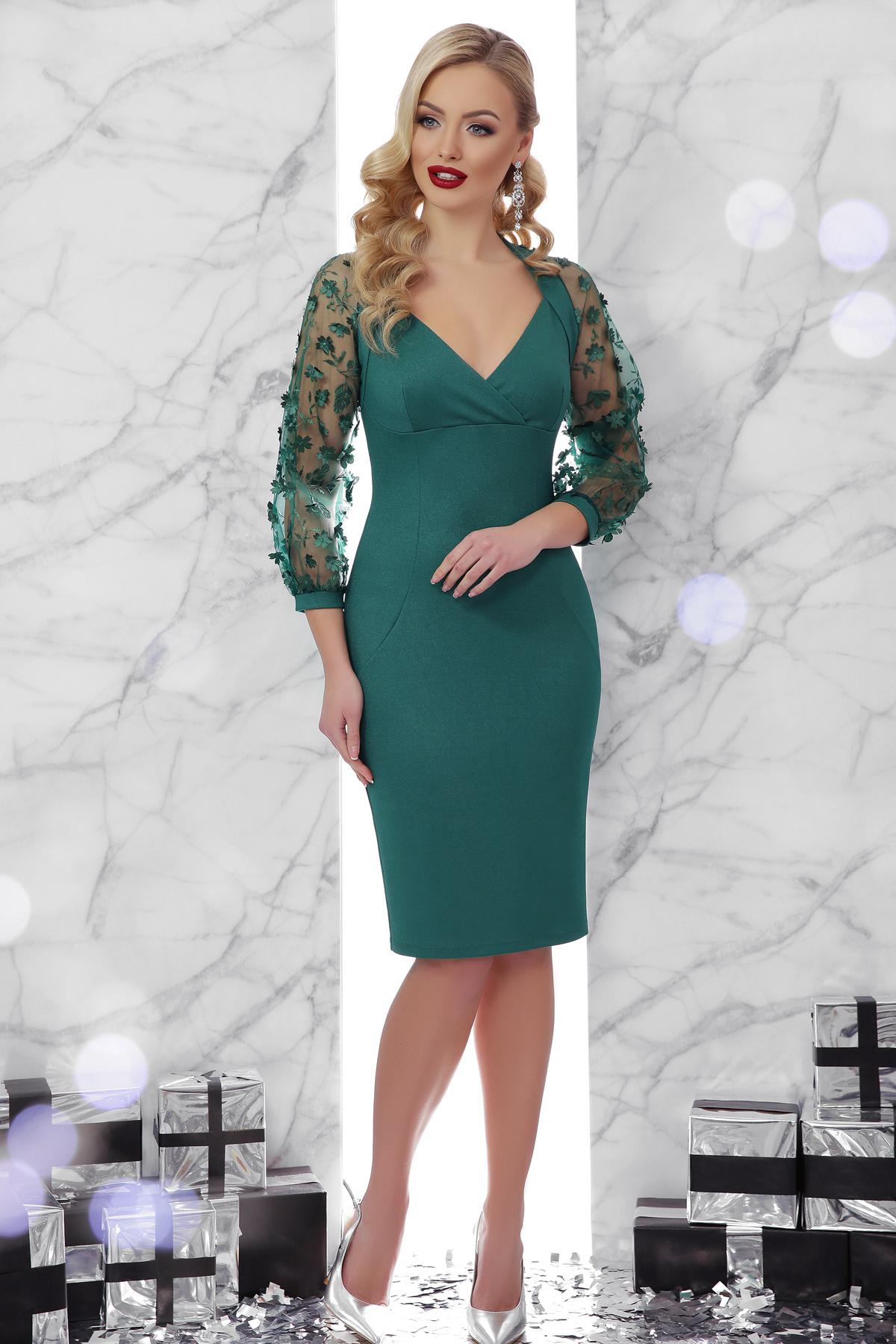 eb5a3bee753 изумрудное платье с пышными рукавами. платье Флоренция 2 д р. Цвет  изумруд