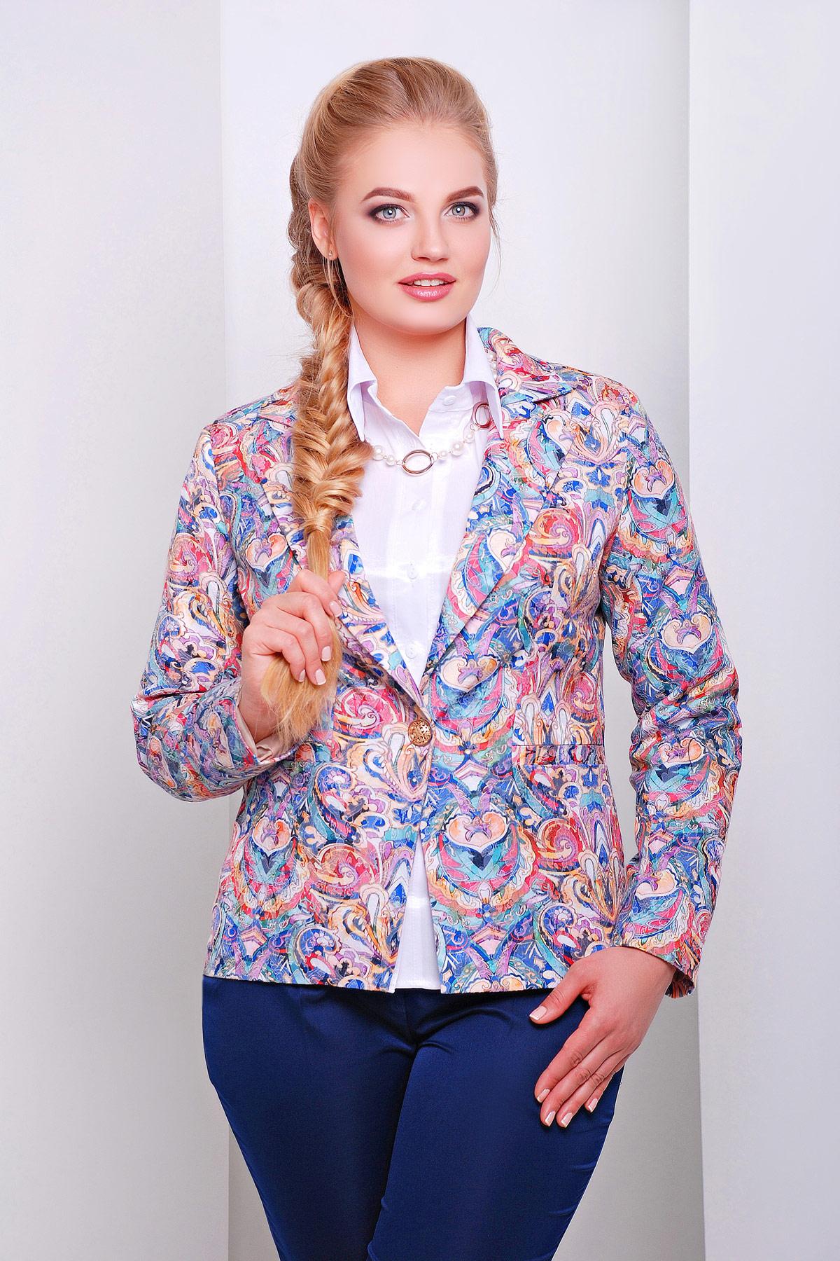 пиджак Жардин-Б. Цвет: витраж 01