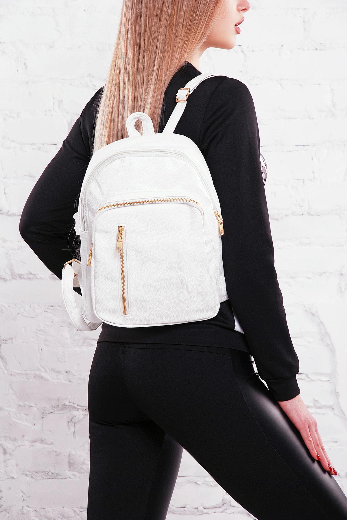 e5ff86202501 городской женский рюкзак синего цвета. Рюкзак D122. Цвет: белый купить