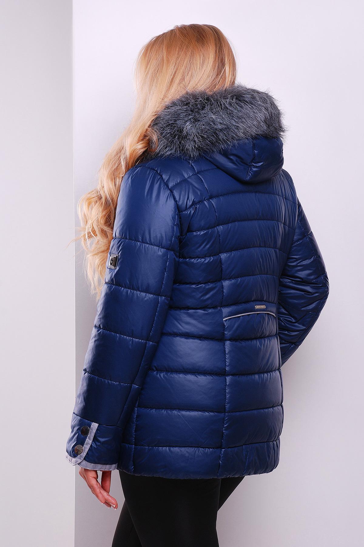 315871f6749 Черная куртка с капюшоном на меху. куртка Glem-1. Цвет  темно синий