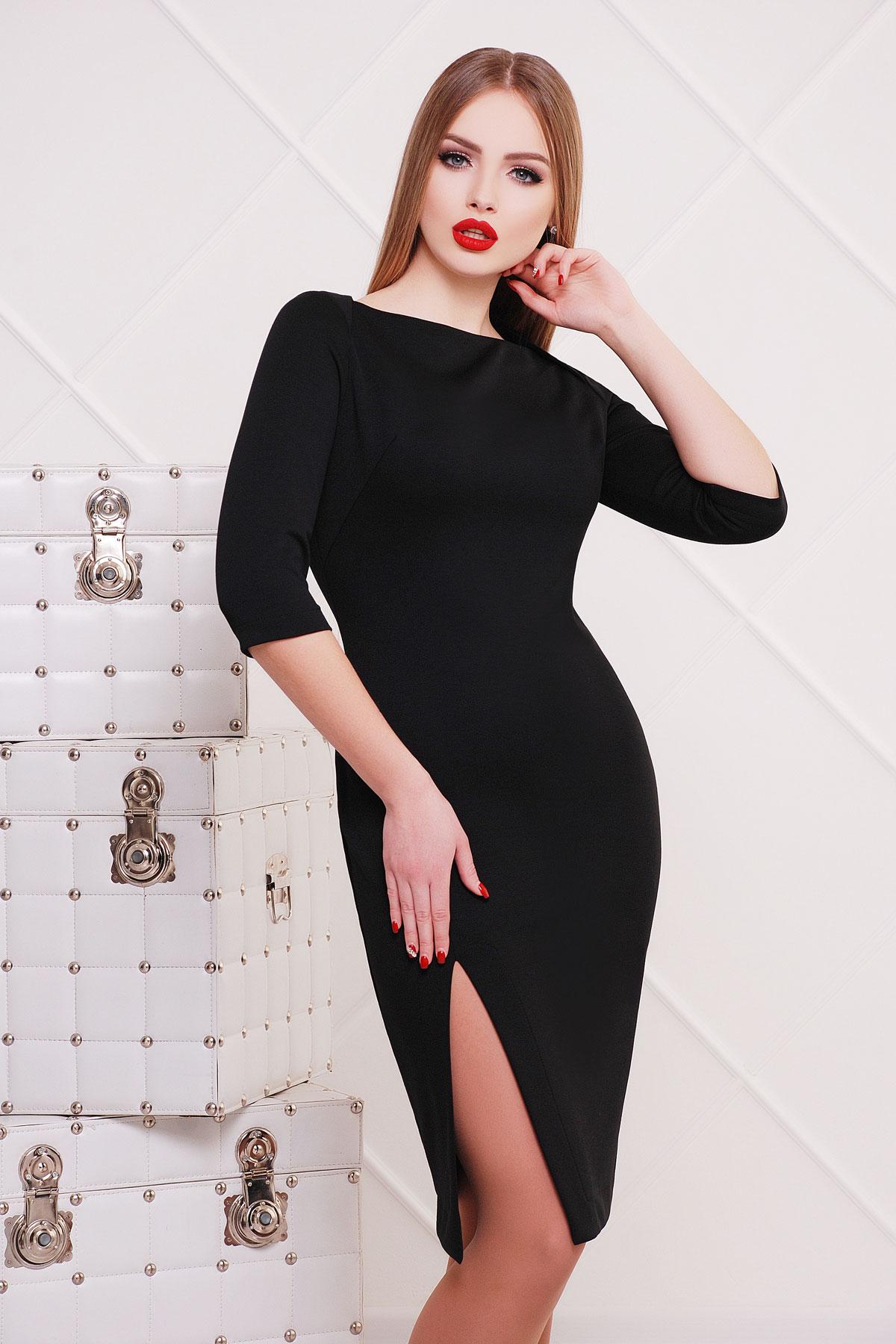 b5f41761392b элегантное черное платье длиной до колен. платье Лучера д р. Цвет  черный