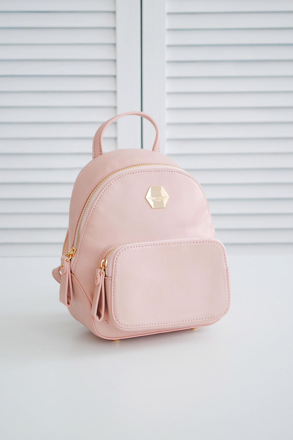 24caa0df10e9 женский городской мини рюкзак. Рюкзак 5526-2. Цвет: пудра