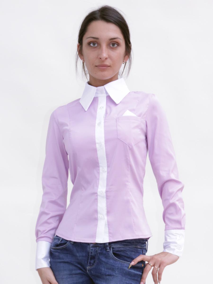 блуза Марта д/р. Цвет: сиреневый