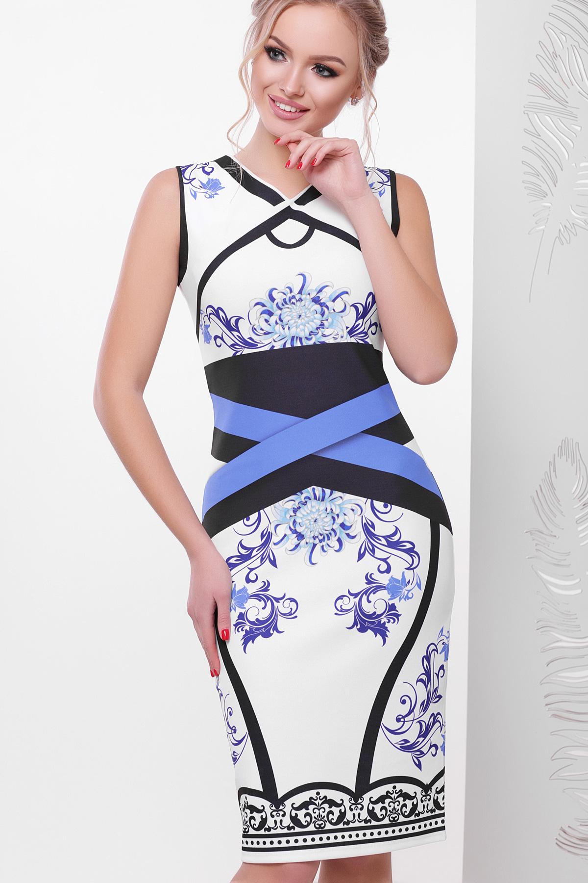 d11be927dac летнее белое платье с орнаментом. Japanesse flower платье Лиян б р. Цвет