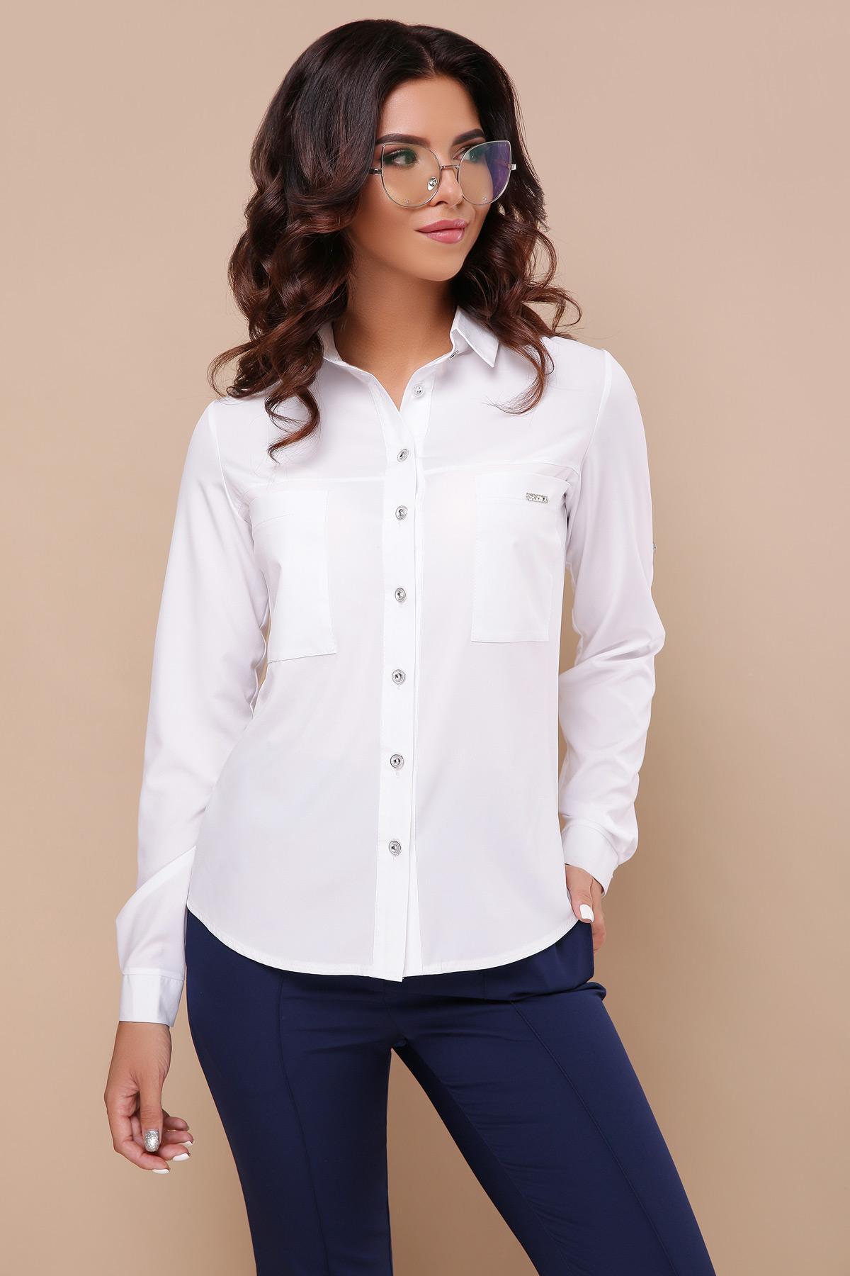 417a1a499052e7c Белая рубашка с длинным рукавом Кери д/р - купить в Украине