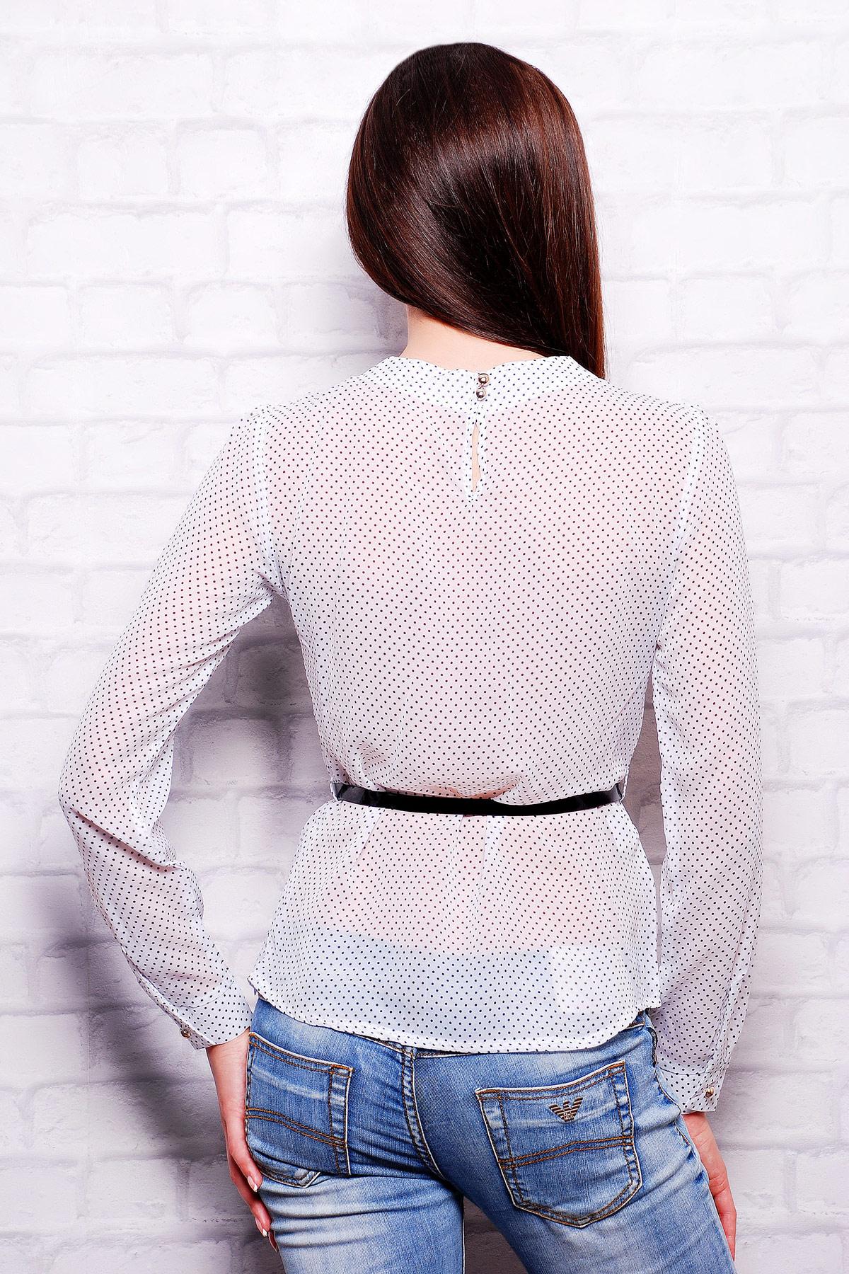 5baca9102f3 Женская шифоновая блузка с ажурным узором. блуза Энни д р. Цвет  белый ...