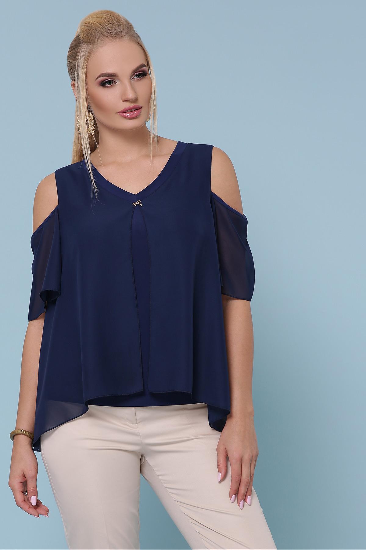 блуза Анаит-Б к/р. Цвет: синий
