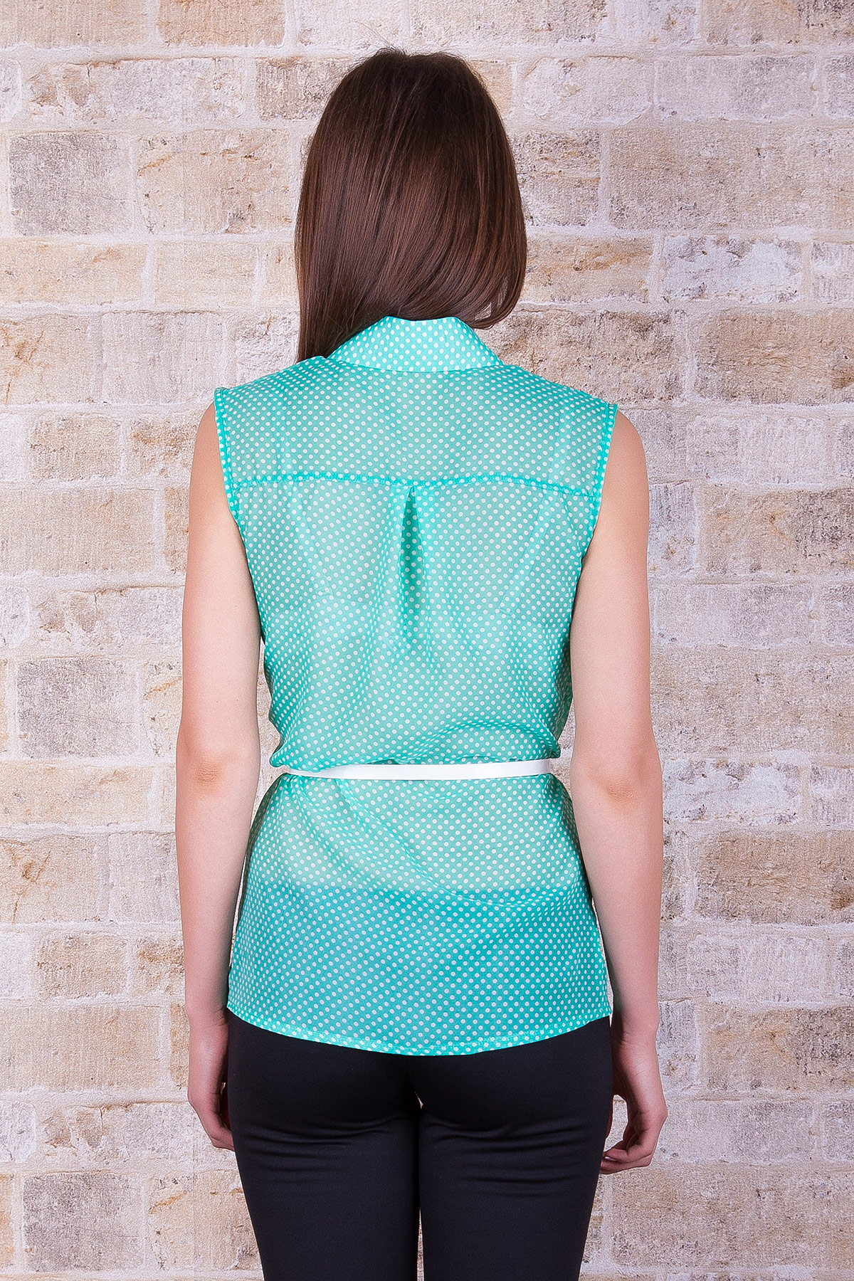 Купить зеленую шифоновую блузку