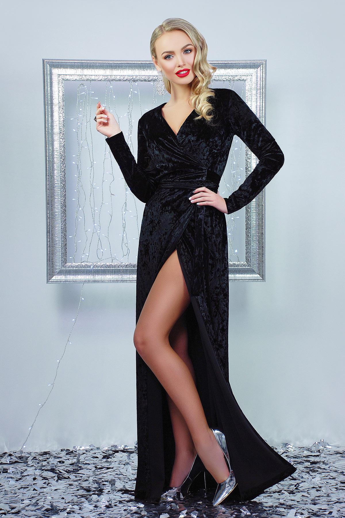 1be32142381 черное вечернее платье с запахом. платье Нателла д р. Цвет  черный