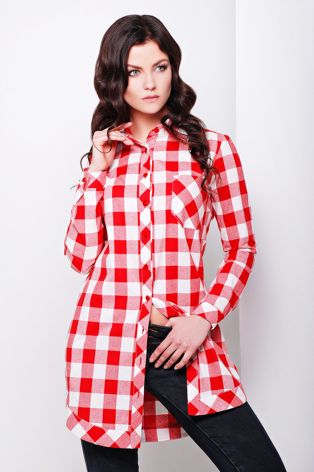 d837b9515a0 Женские блузки в клетку  купить в Украине недорого