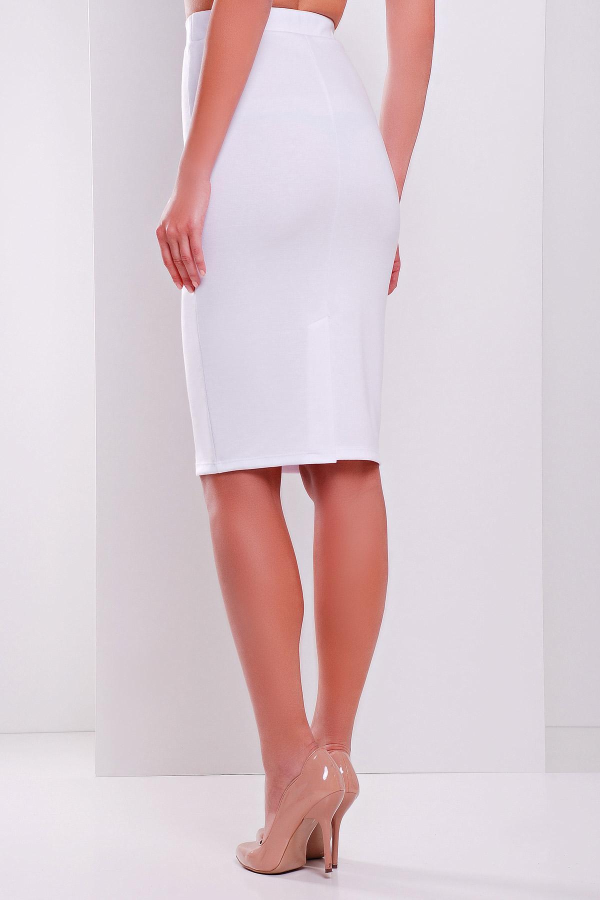 4f0767e7bf8 белая трикотажная миди юбка-карандаш. юбка мод. №20.