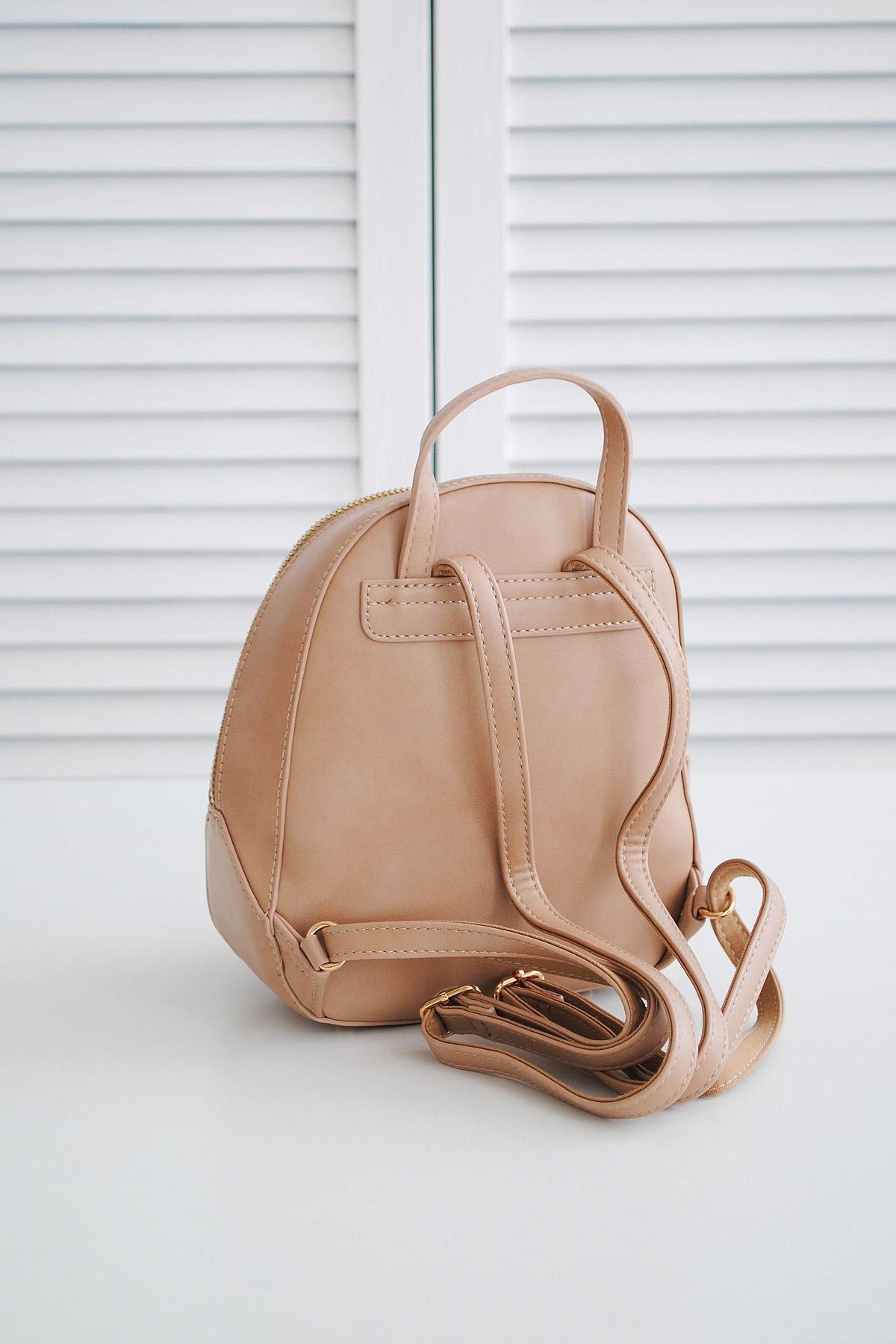 28da95e16ec1 женский мини рюкзак белого цвета. Рюкзак 5526-2. Цвет  капучино купить ...