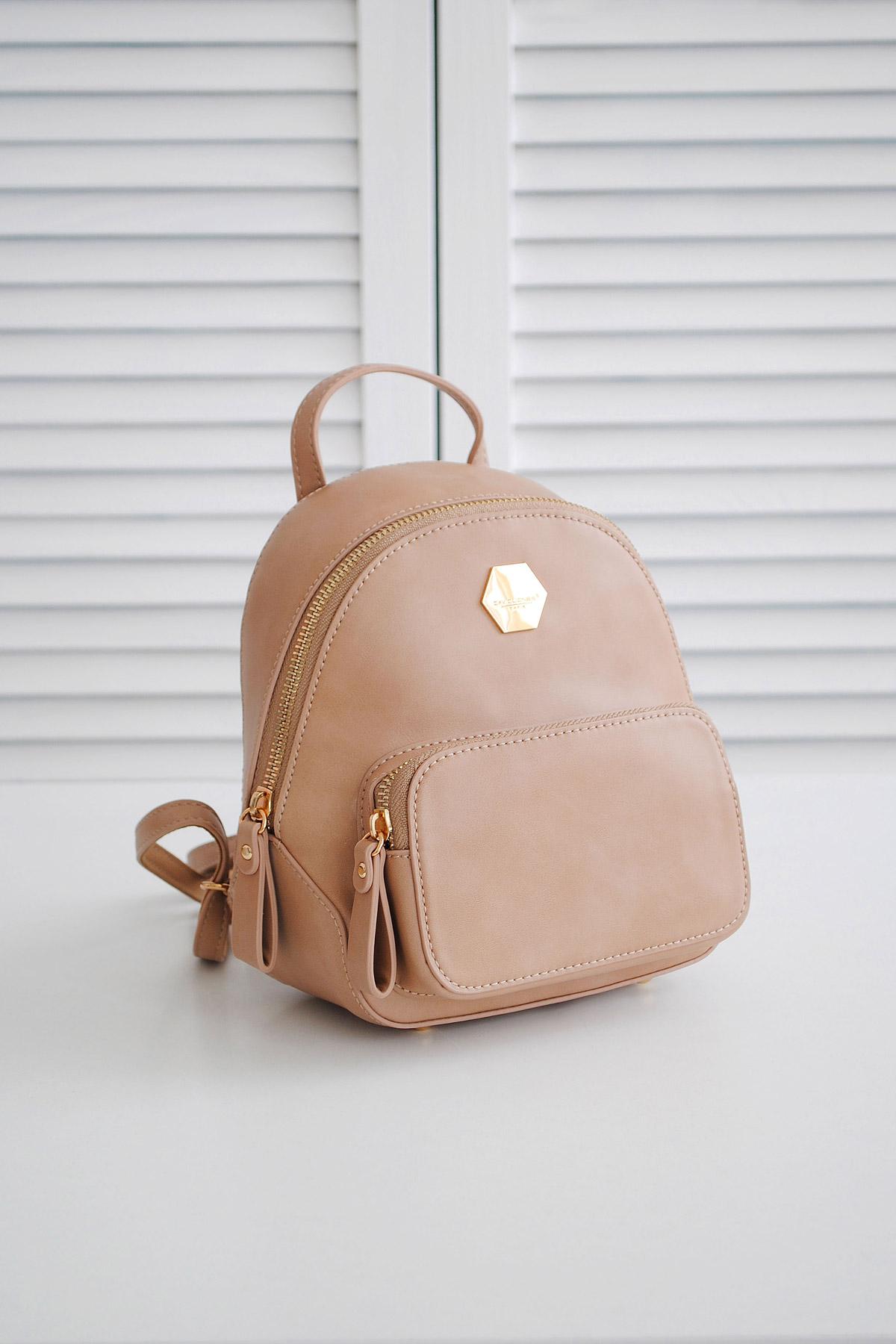 ac21d17a1a6a женский мини рюкзак белого цвета. Рюкзак 5526-2. Цвет  капучино