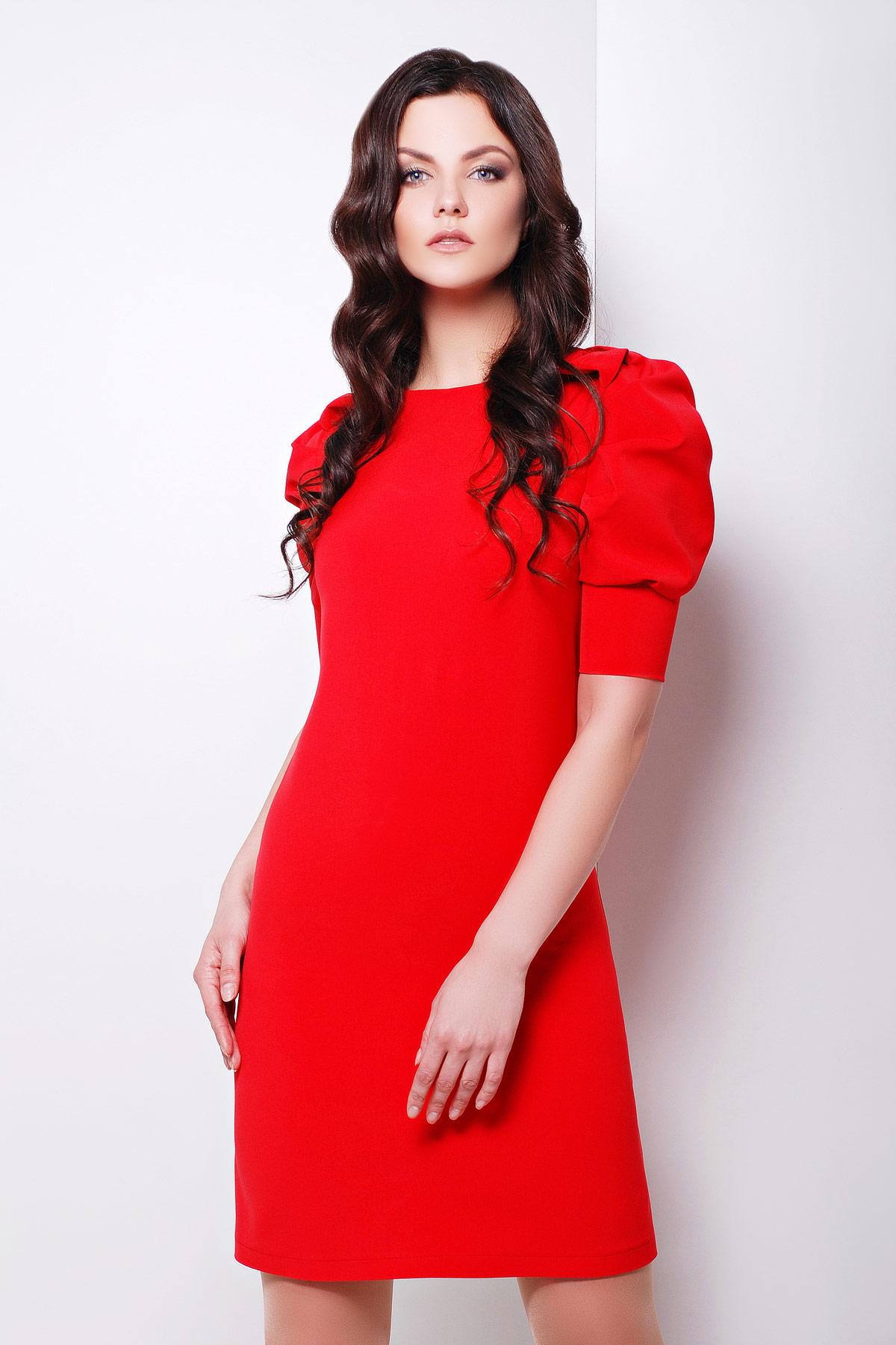 2b4337dde9b красное платье с рукавами фонариками. платье Фалди к р. Цвет  красный