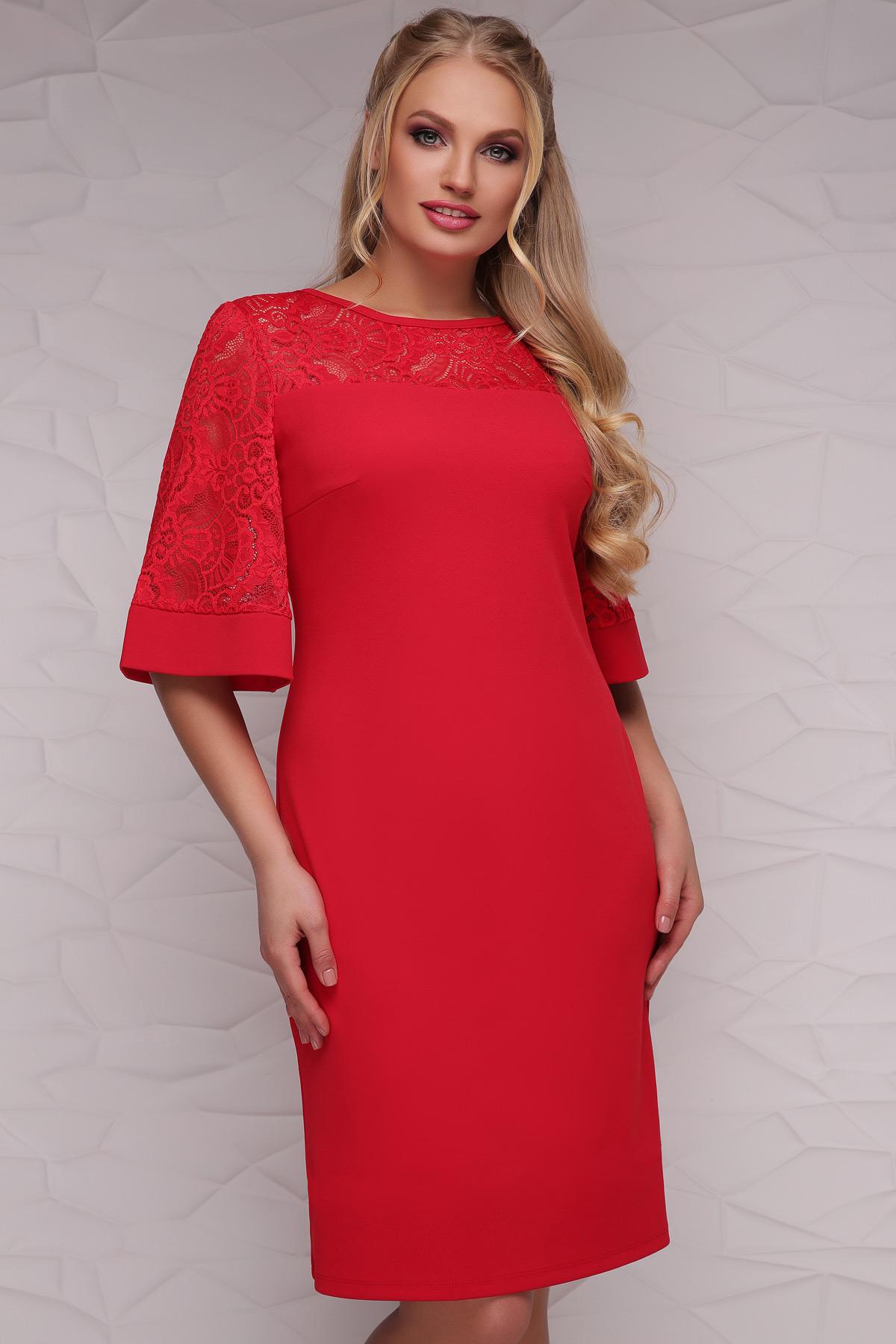 91a499467aa Нарядное красное платье по колено Мирина-Б к р - купить в Украине