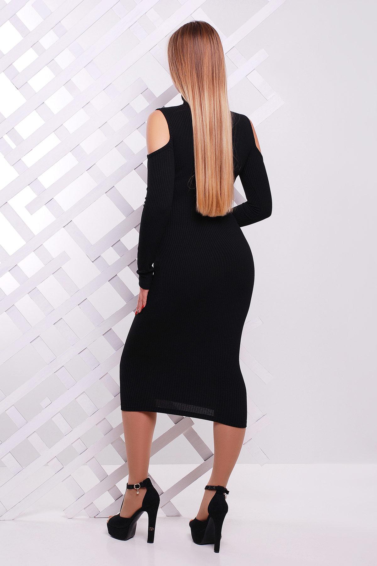2ec8bc642875359 обтягивающее черное платье-резинка. платье Резинка д/р. Цвет: черный купить