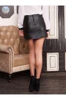 черная юбка из экокожи. юбка мод. №6. Цвет: черный
