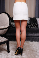 черная юбка из экокожи. юбка мод. №6. Цвет: белый